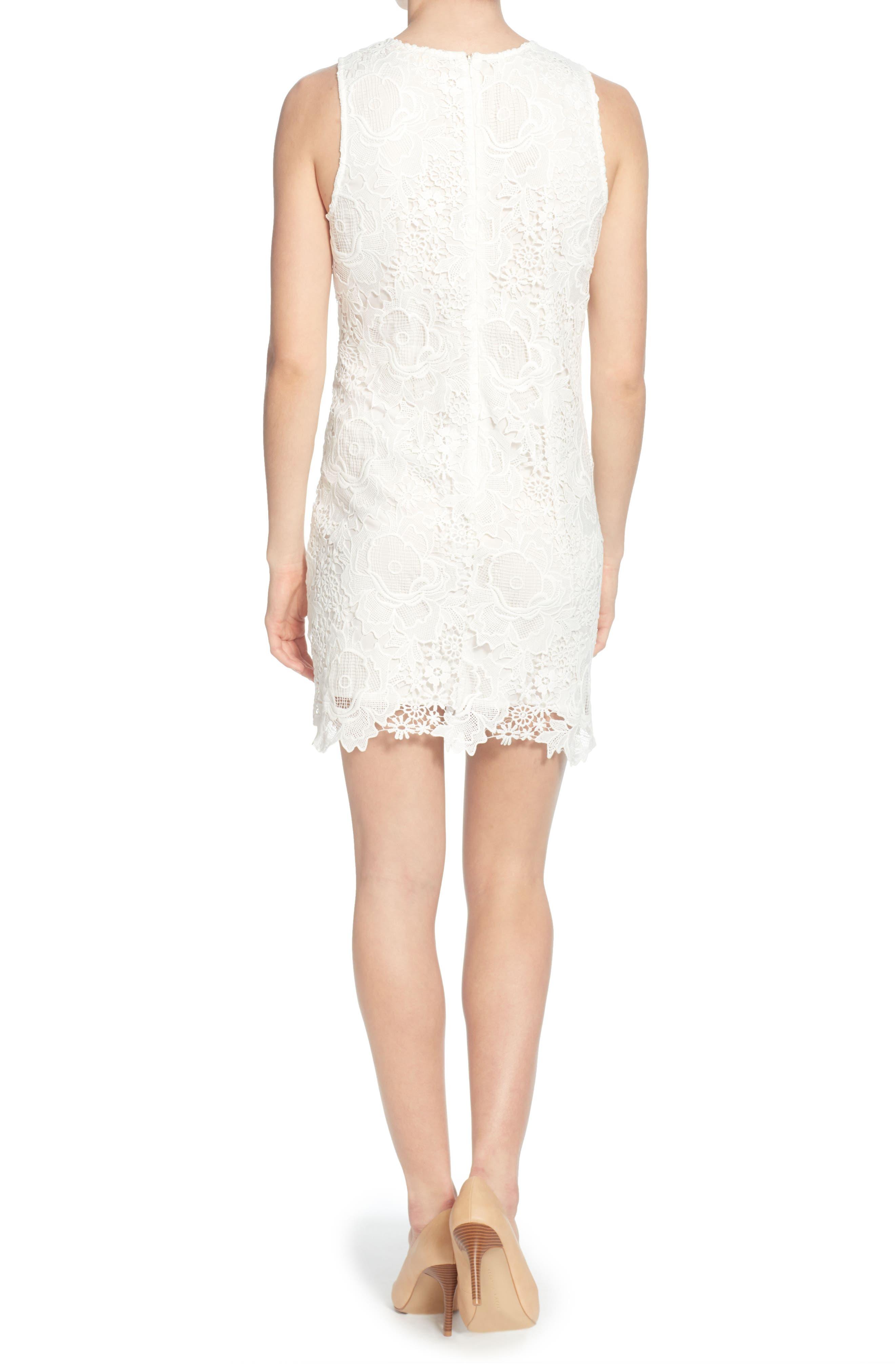 Sherrell Lace Sheath Dress,                             Alternate thumbnail 2, color,                             165