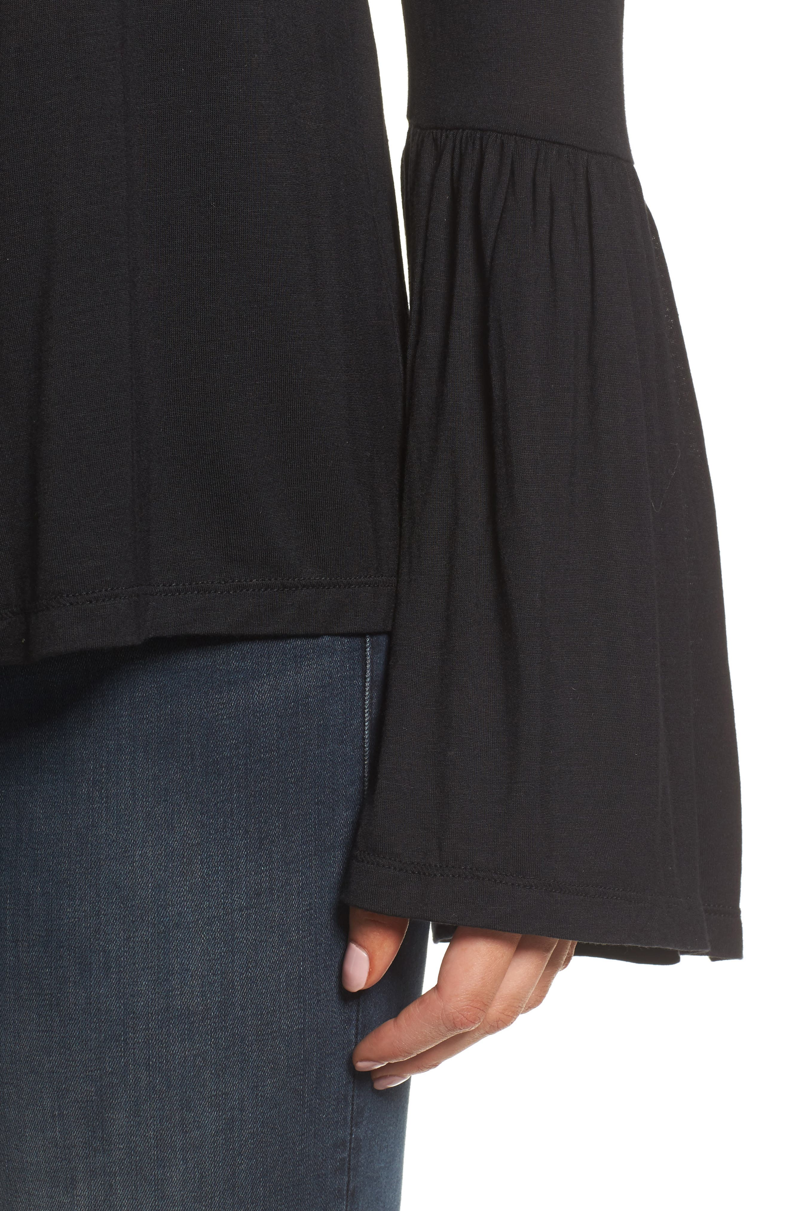 Luck Off the Shoulder Top,                             Alternate thumbnail 4, color,