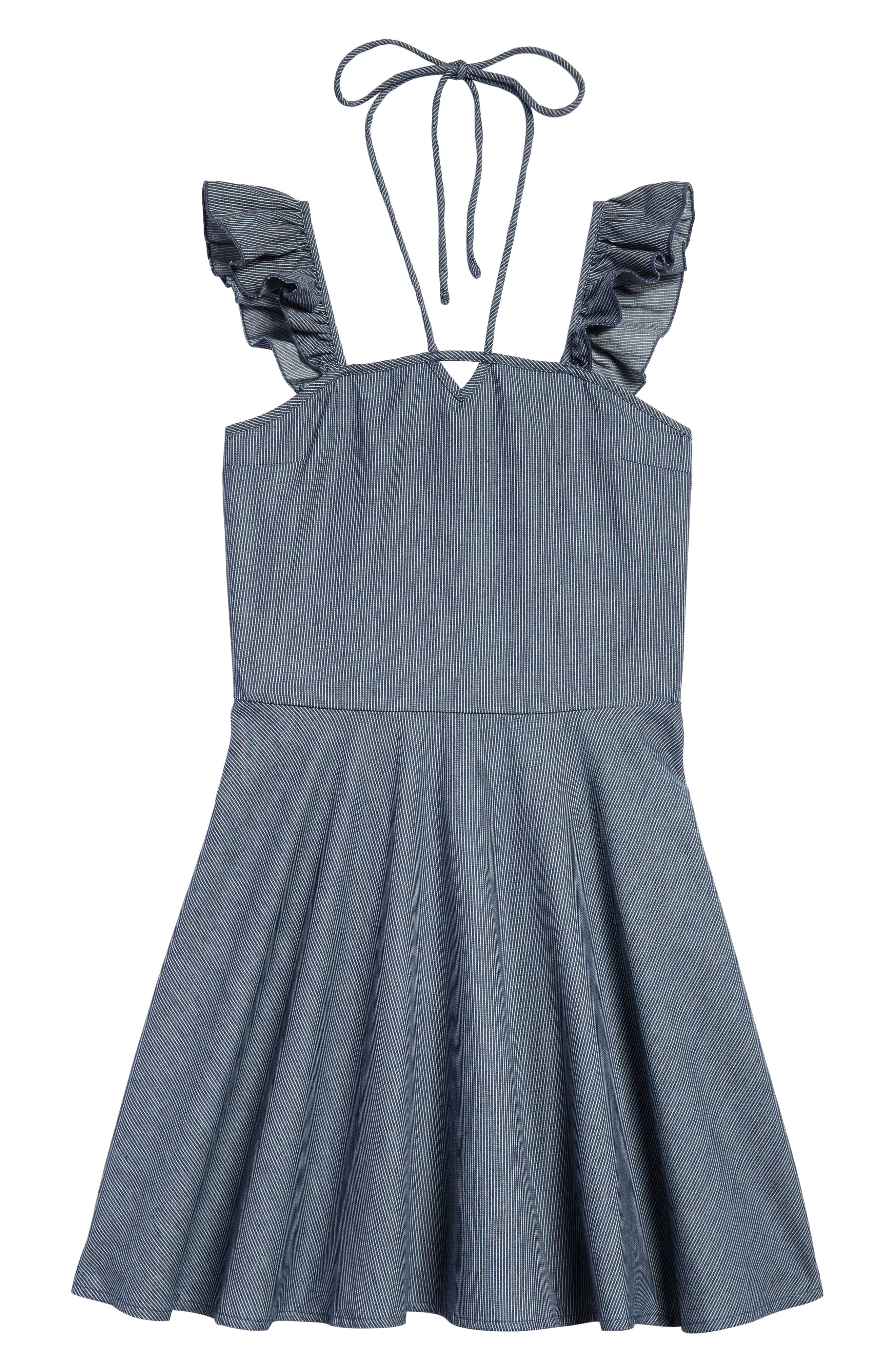 Ruffle Shoulder Dress,                             Main thumbnail 1, color,