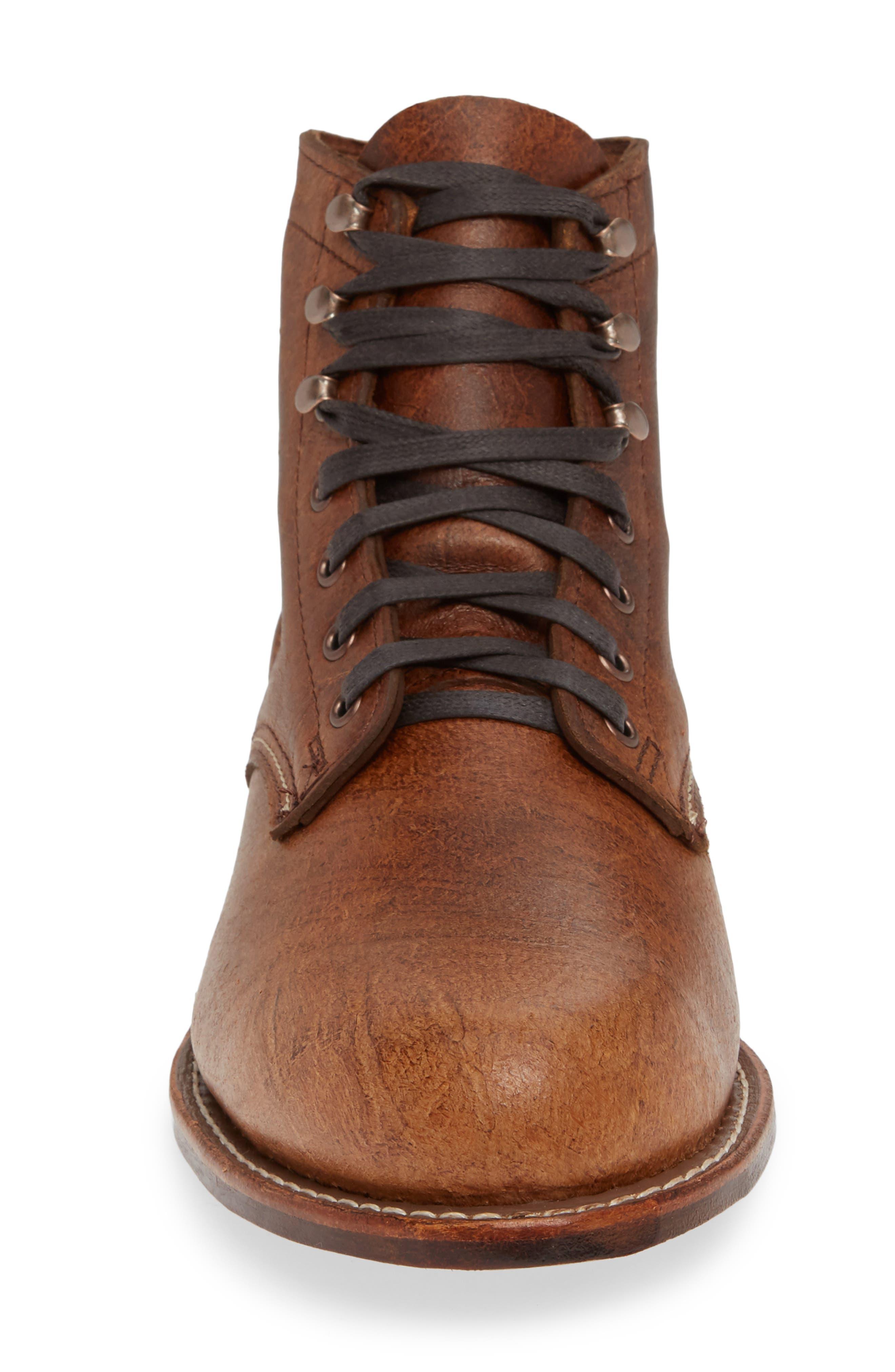 '1000 Mile' Plain Toe Boot,                             Alternate thumbnail 4, color,                             COGNAC