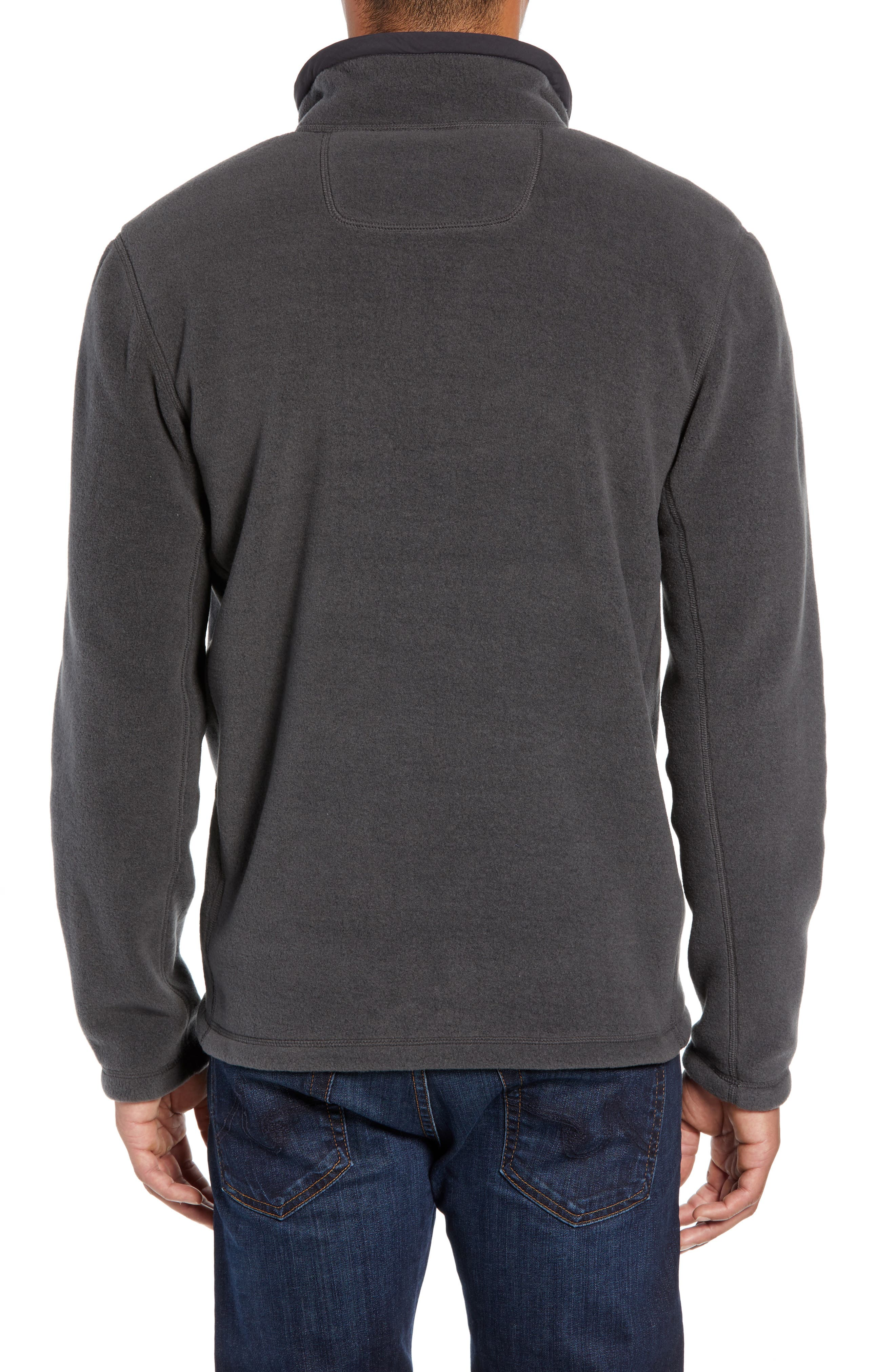 Pyrite Fleece Quarter Zip Pullover,                             Alternate thumbnail 2, color,                             TNF DARK GREY HEATHER