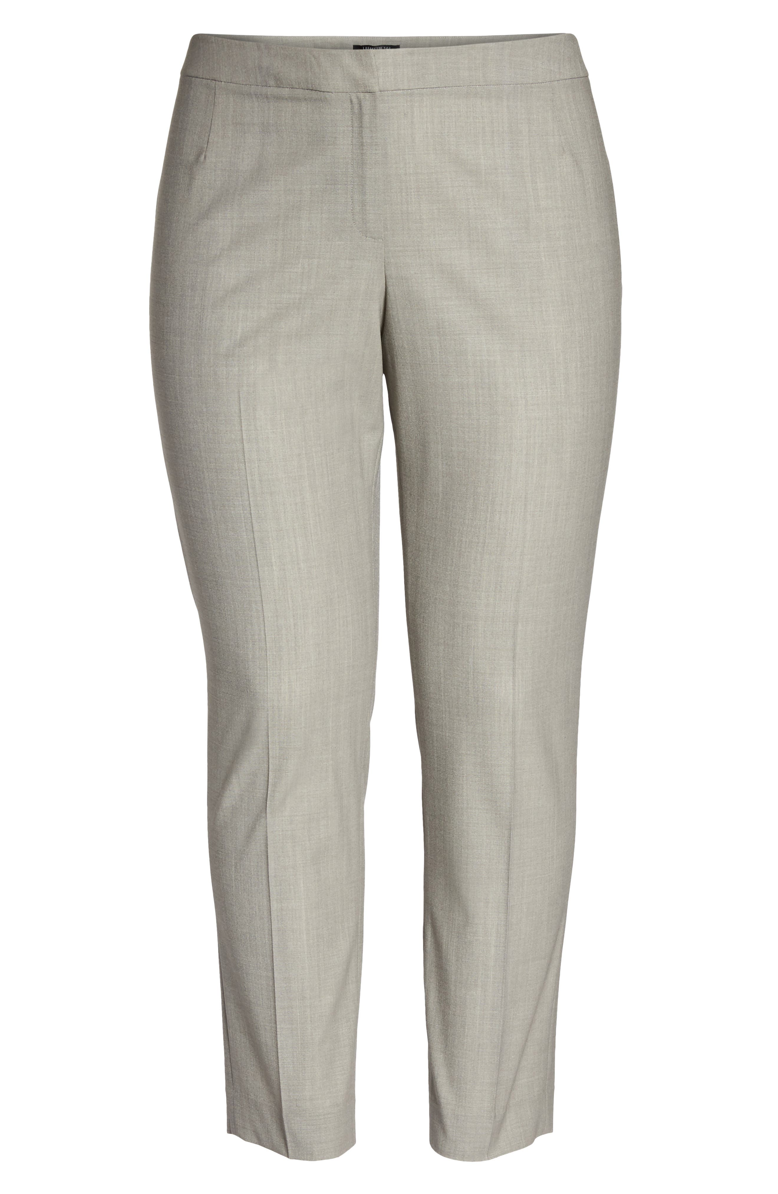 Bleecker Stretch Wool Suit Pants,                             Alternate thumbnail 6, color,                             021