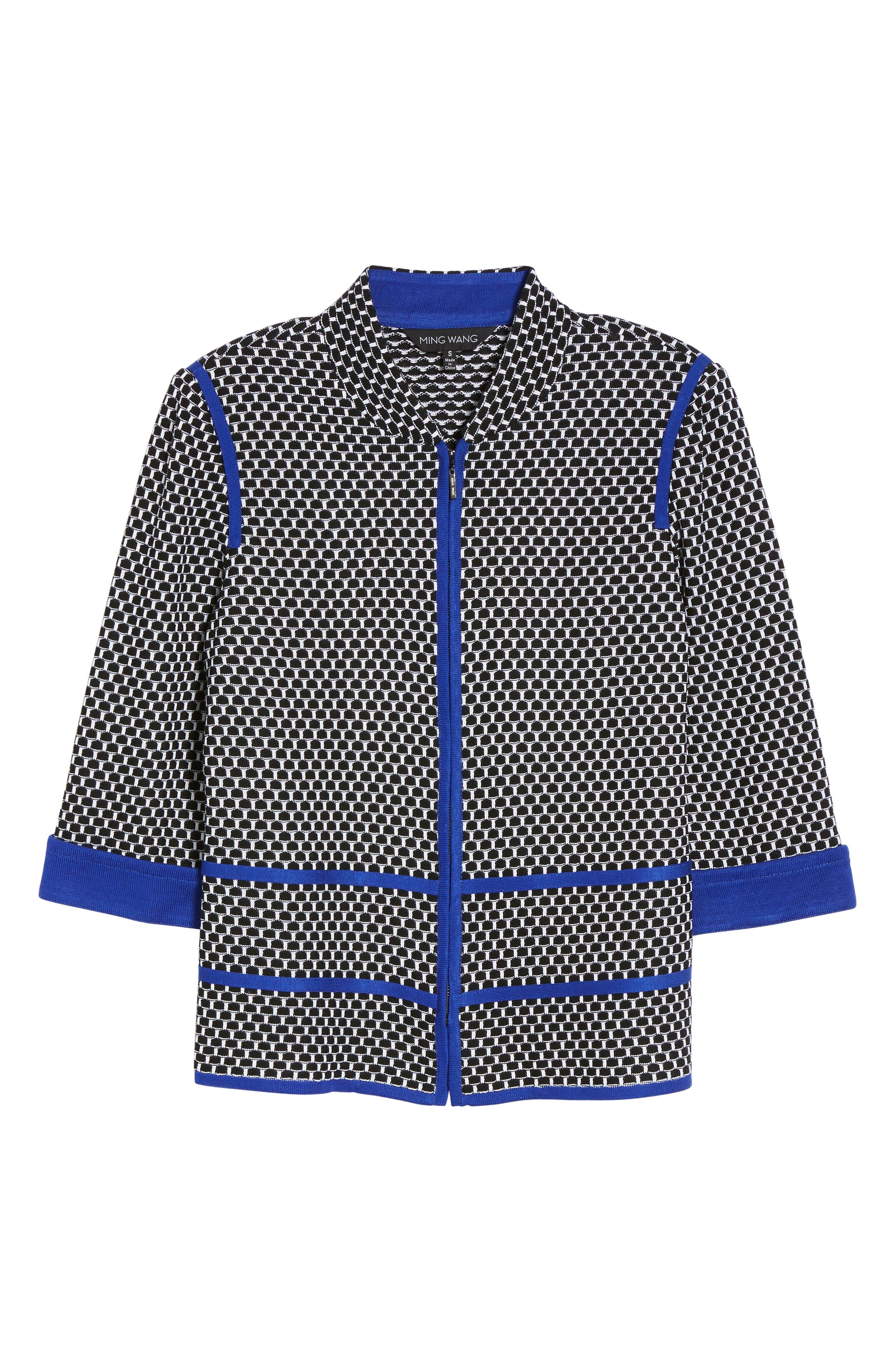Jacquard Knit Jacket,                             Alternate thumbnail 5, color,                             407