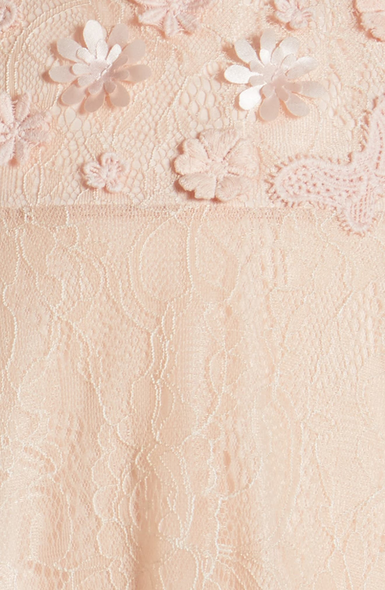 Lace Shift Dress,                             Alternate thumbnail 3, color,                             PEACH