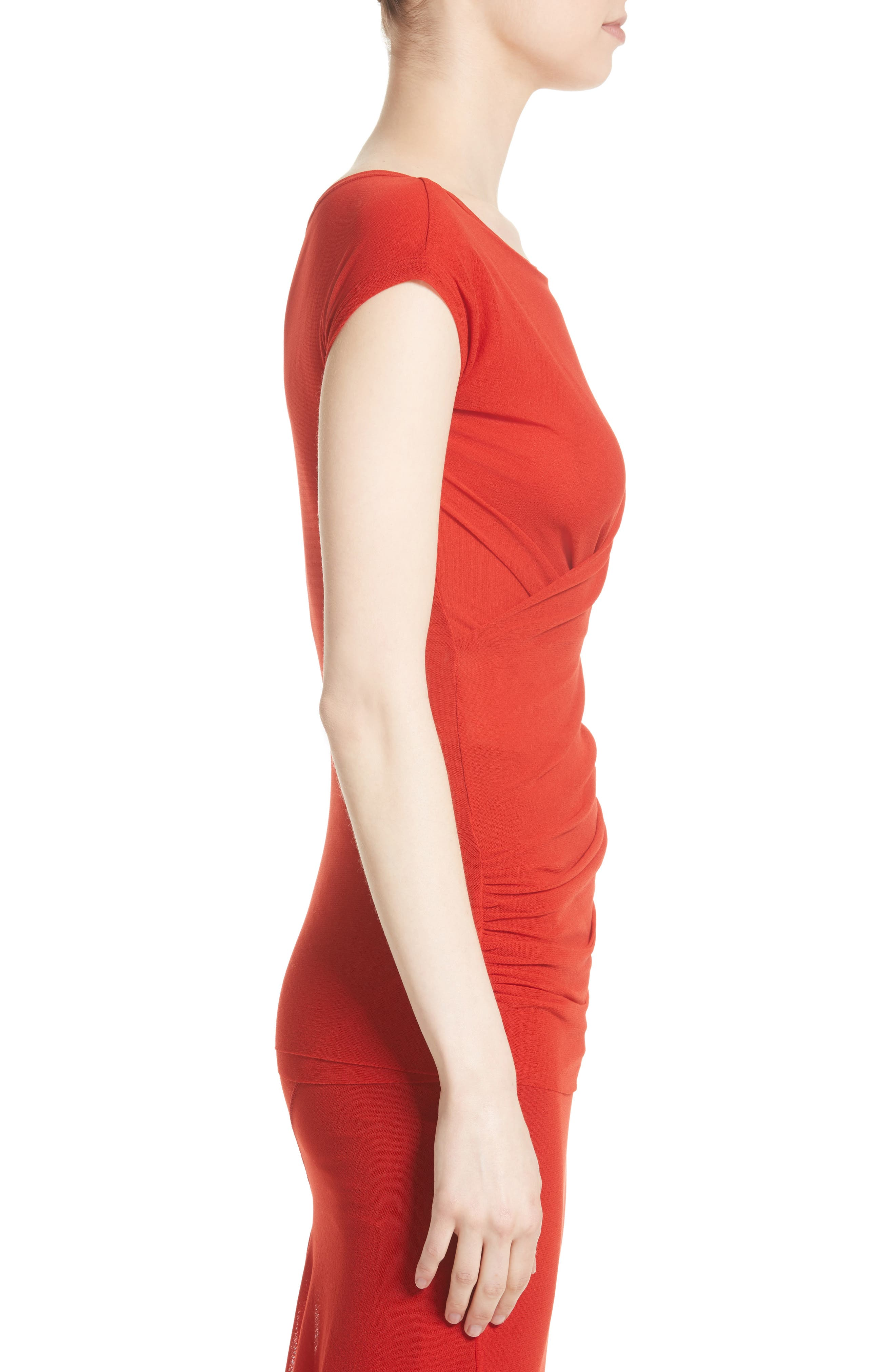 Ruched Tulle Top,                             Alternate thumbnail 3, color,                             614