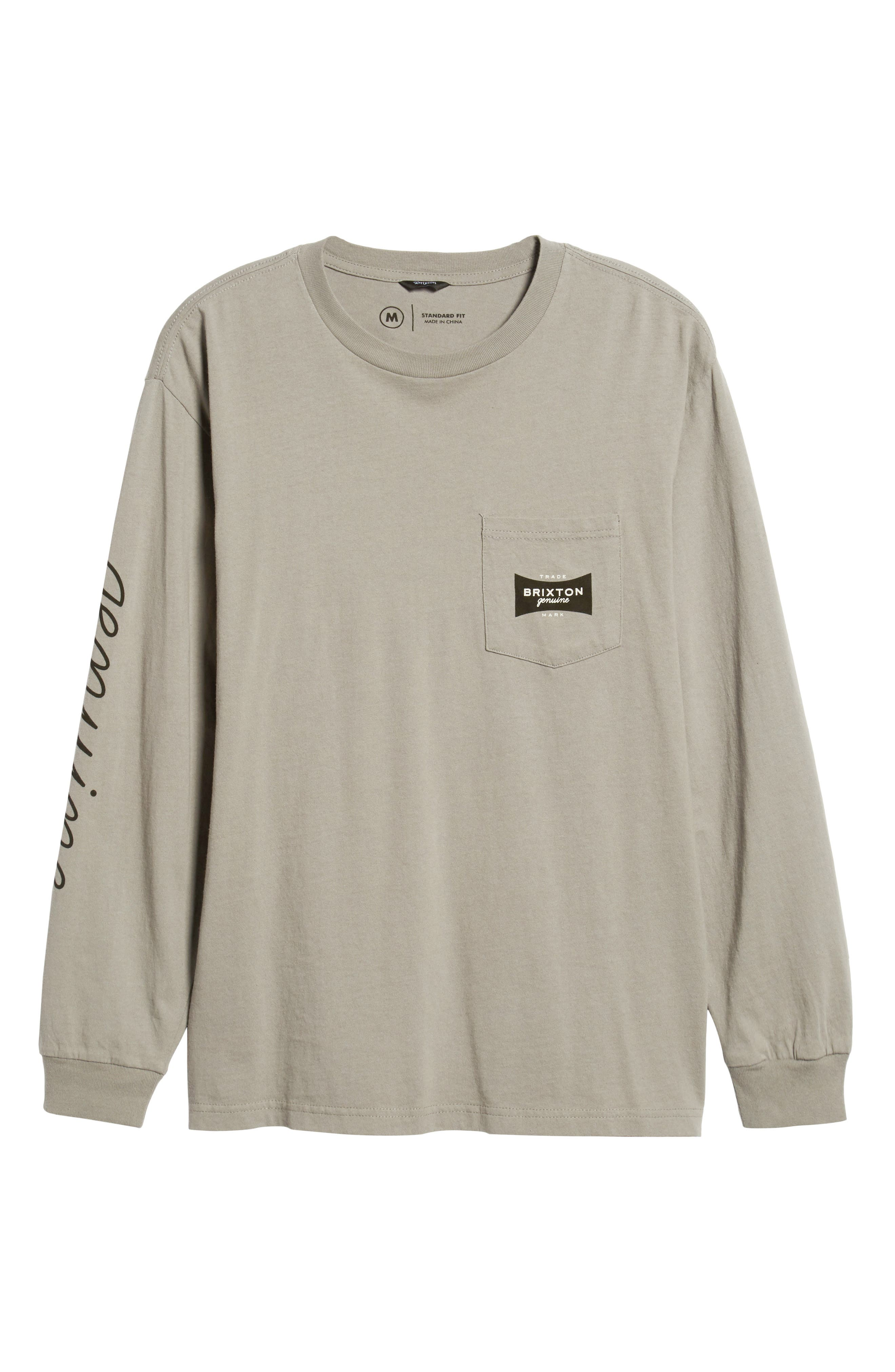 Ramsey Long Sleeve Pocket T-Shirt,                             Alternate thumbnail 6, color,                             CEMENT