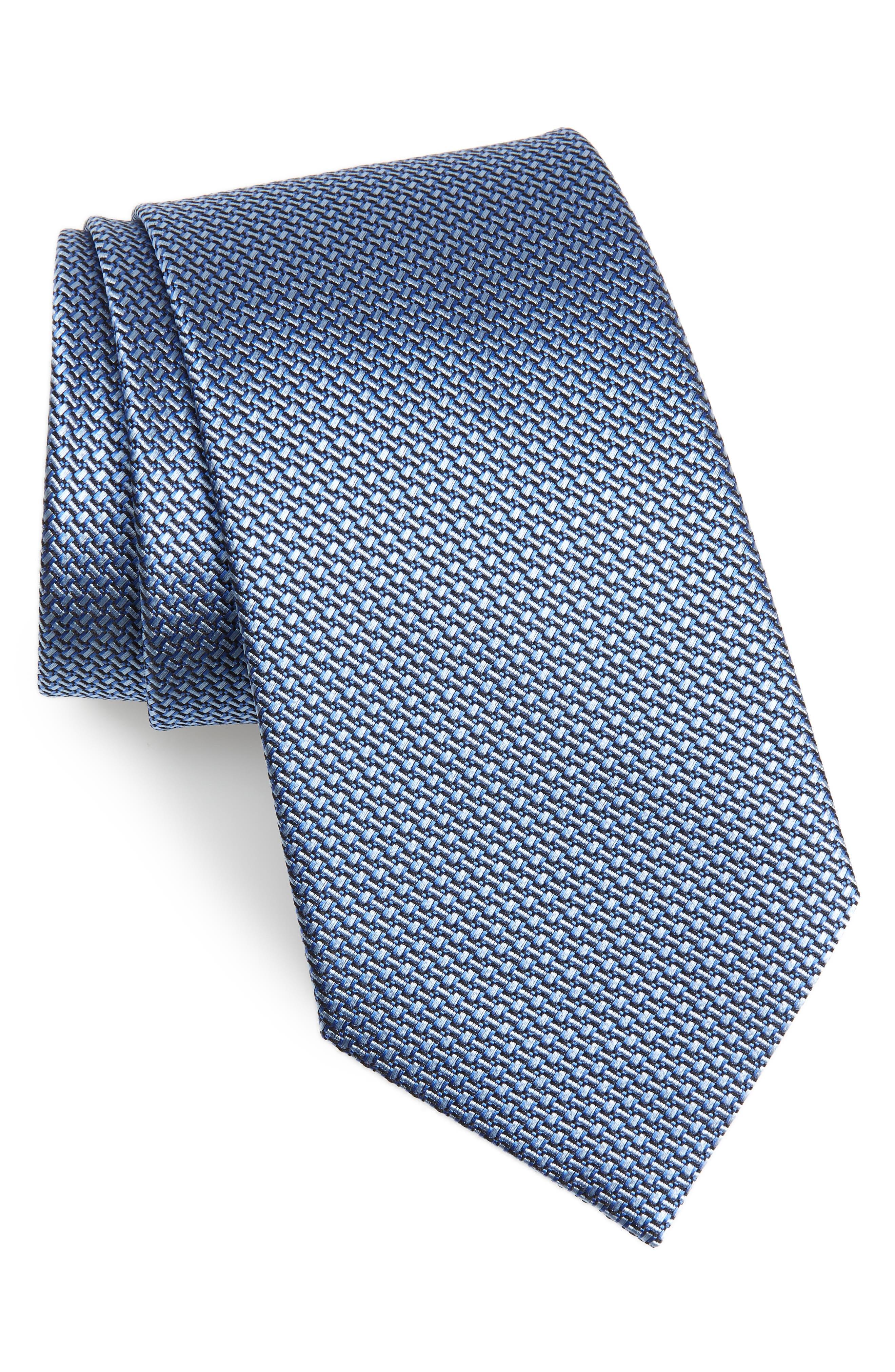 Silk Tie,                         Main,                         color, BLUE