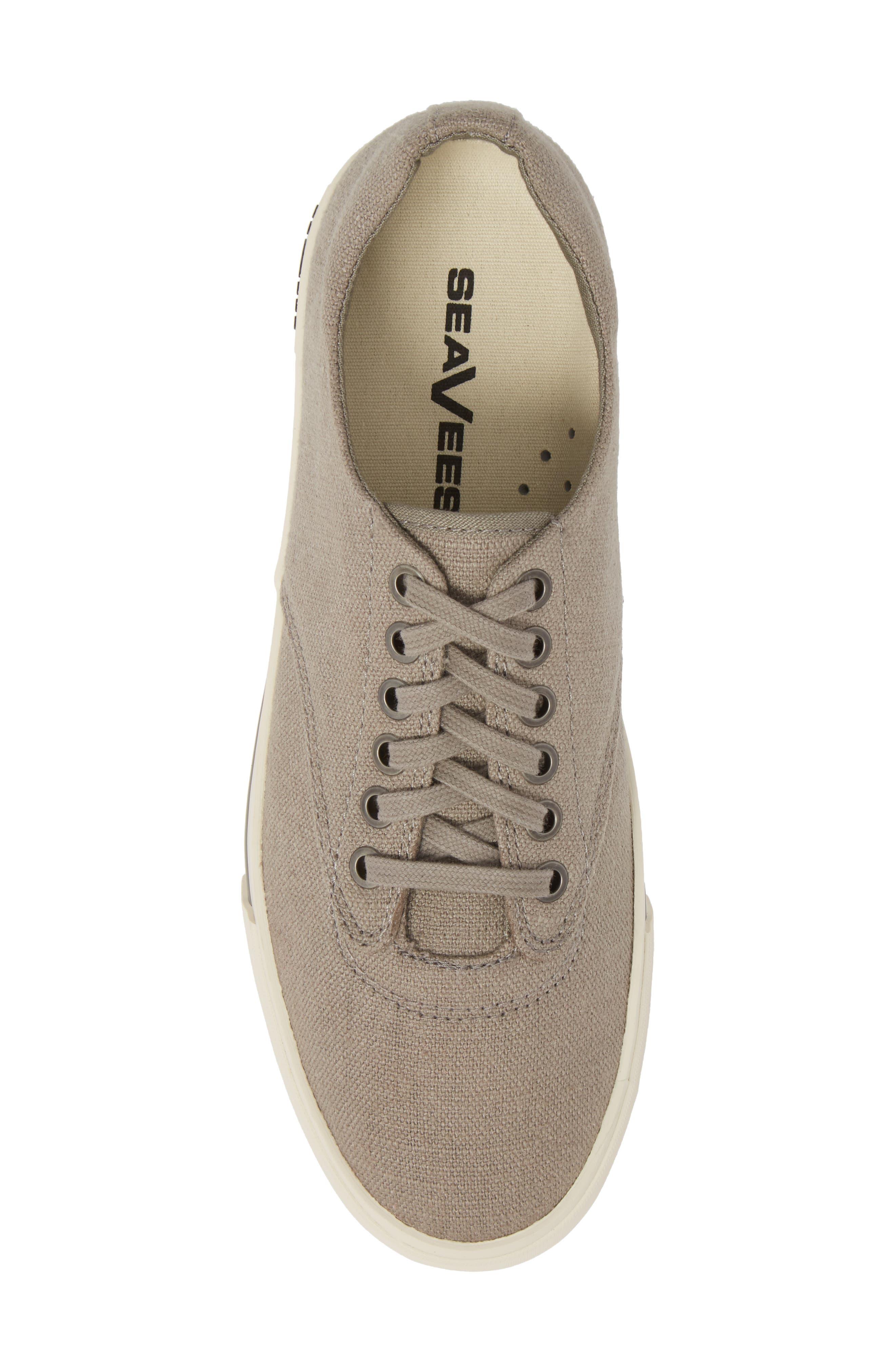 'Hermosa Plimsoll' Sneaker,                             Alternate thumbnail 5, color,                             TIN GREY VINTAGE WASH LINEN