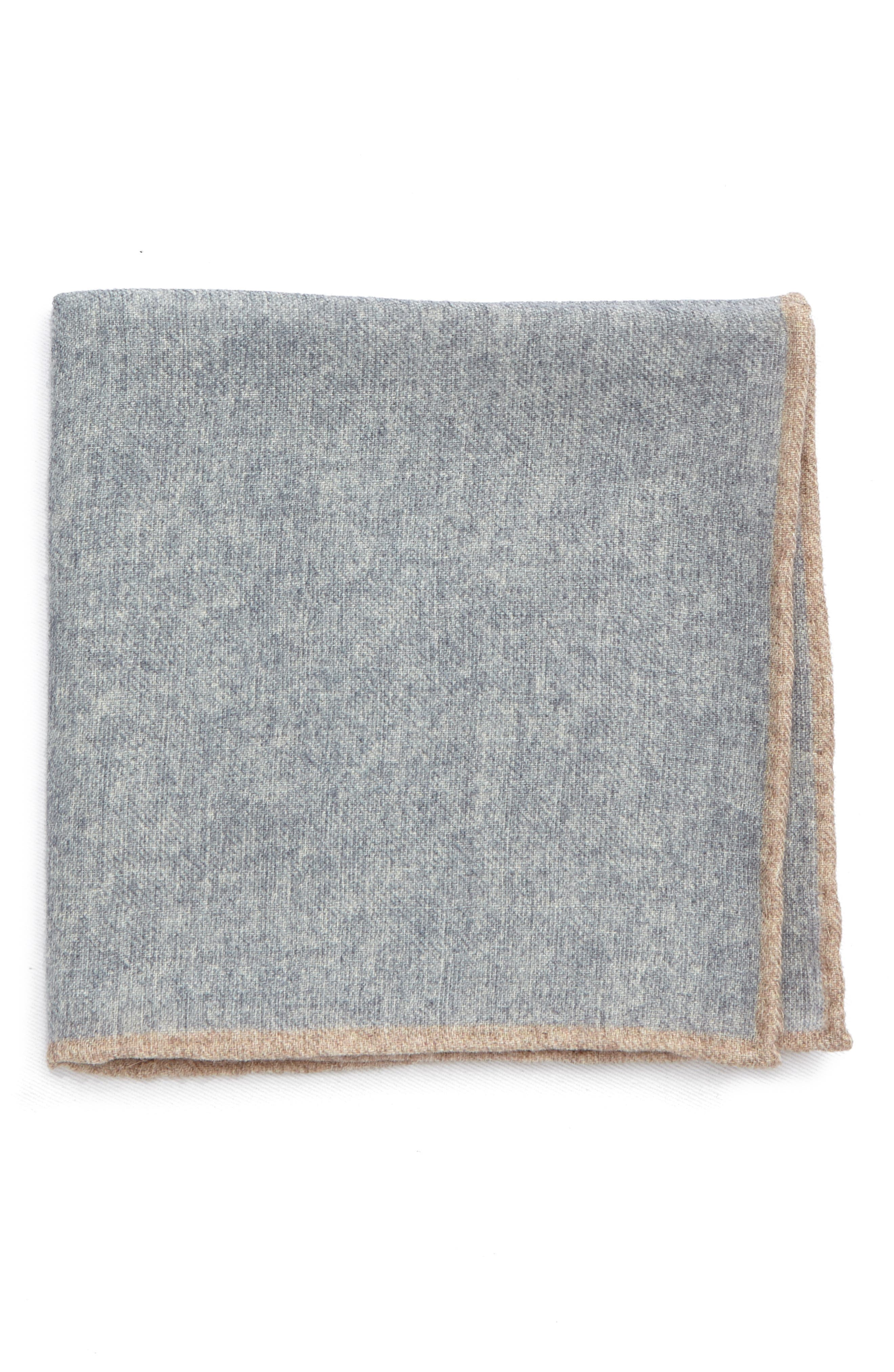Flannel Wool Pocket Square,                         Main,                         color,