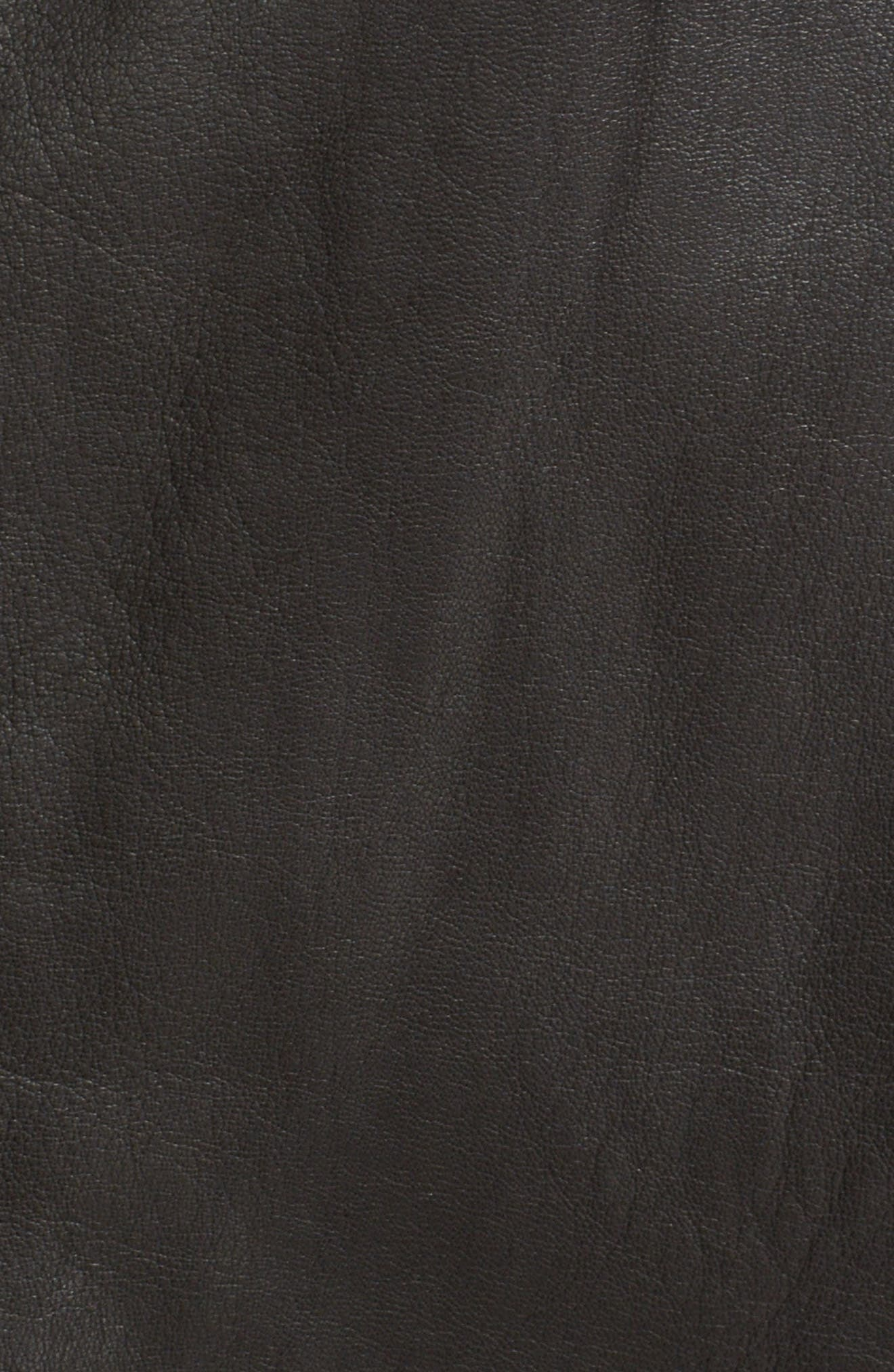 Agnes Lambskin Leather Jacket,                             Alternate thumbnail 5, color,                             BLACK