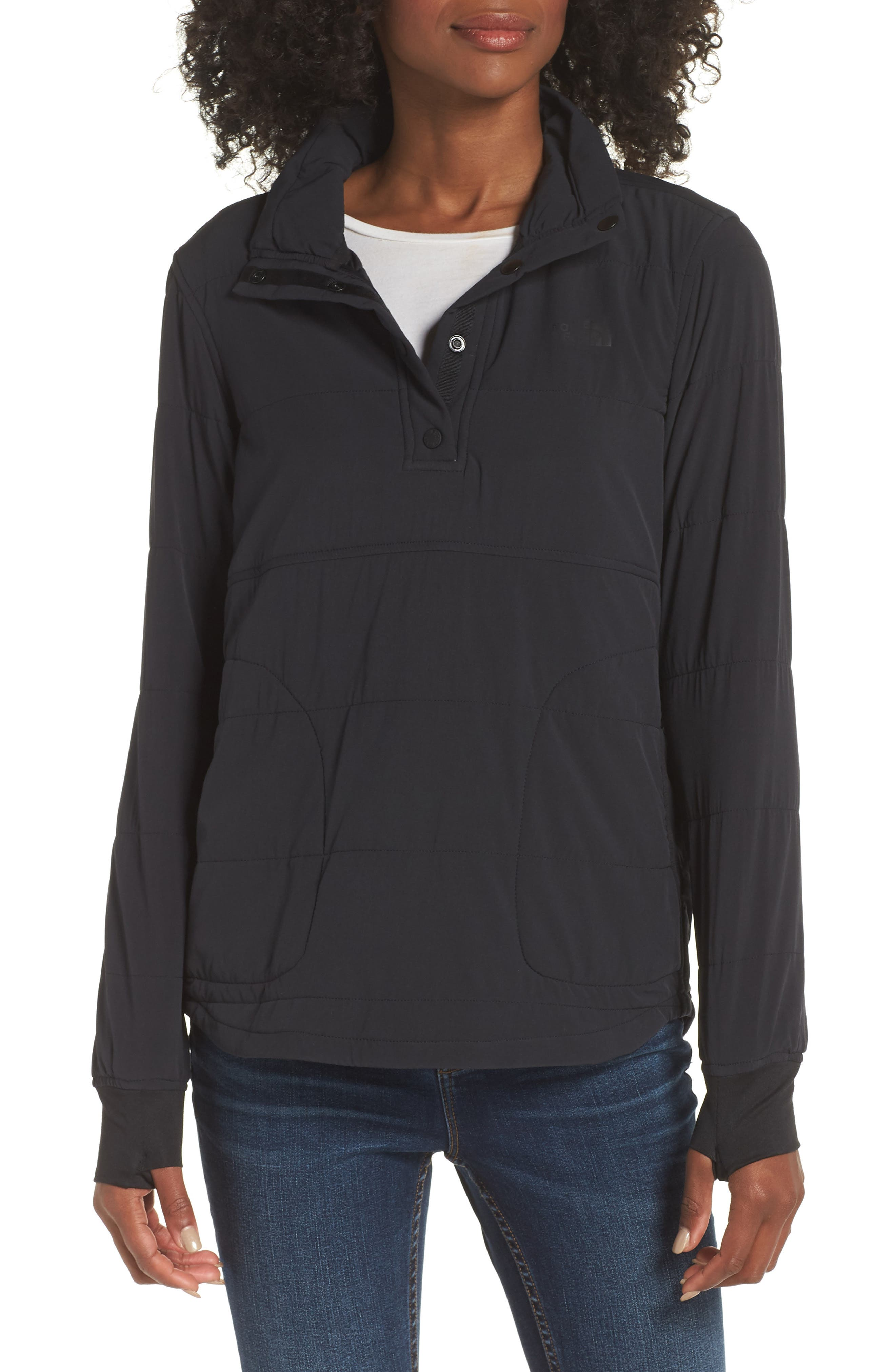Mountain Snap Neck Sweatshirt,                         Main,                         color, 001