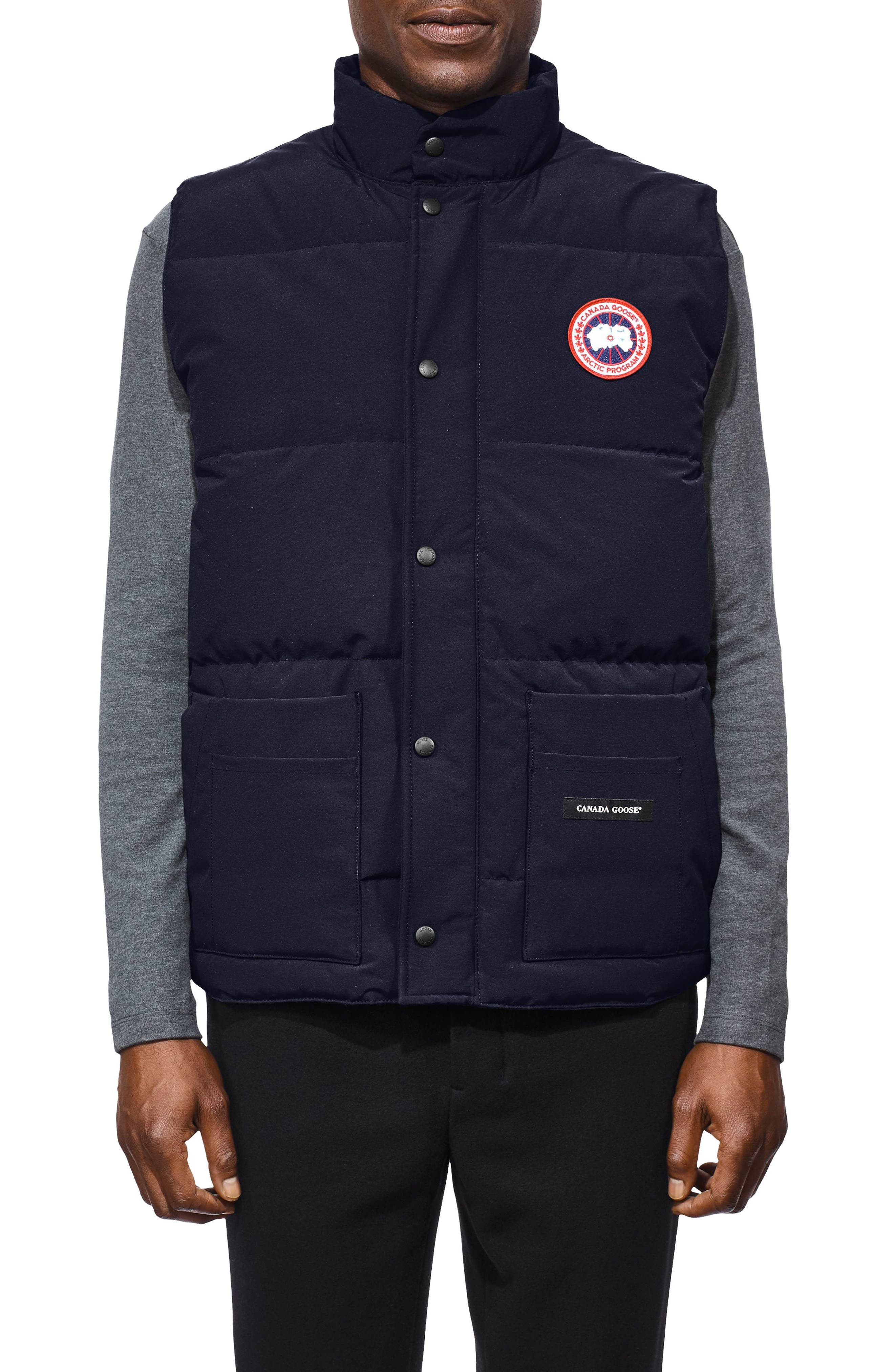 Freestyle Regular Fit Down Vest,                         Main,                         color, ADMIRAL BLUE