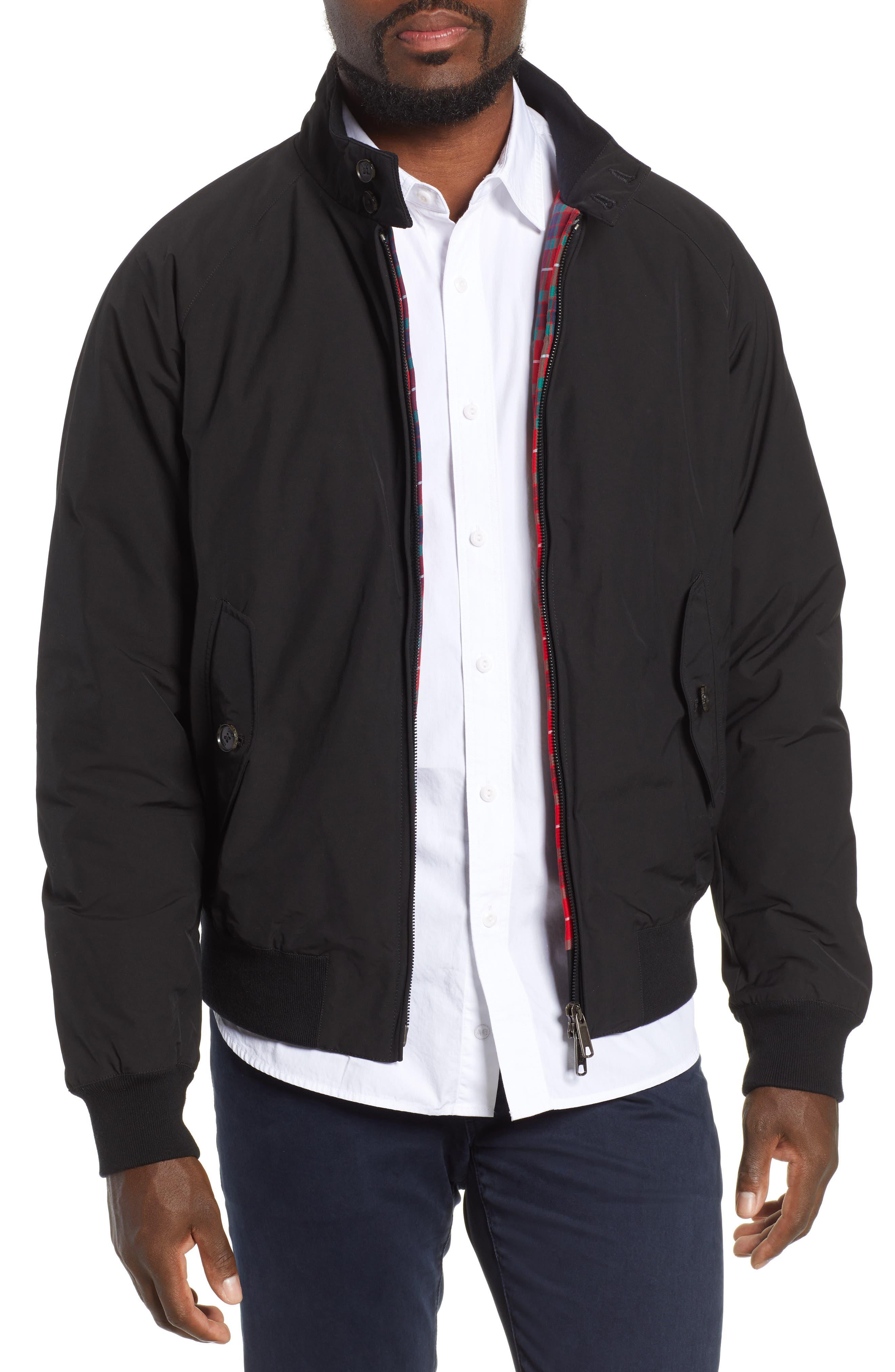 G9 Water Resistant Harrington Jacket,                         Main,                         color, BLACK