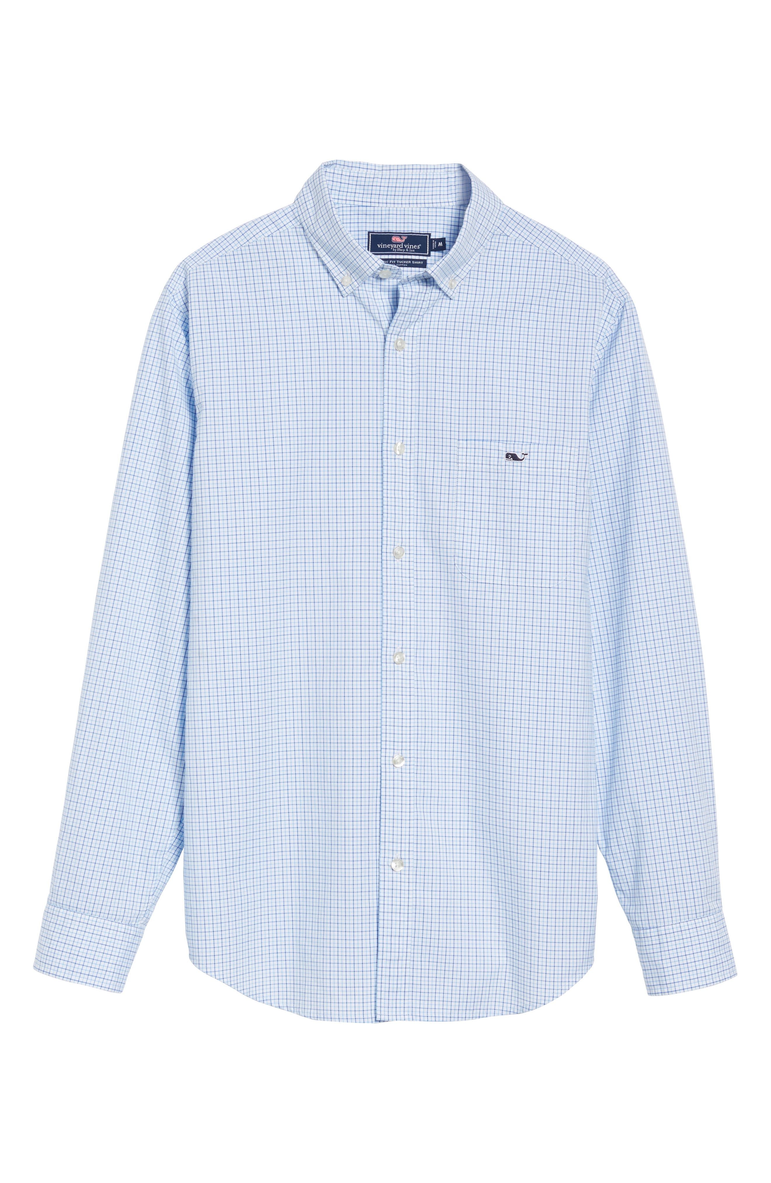 Twin Pond Classic Fit Tattersall Check Sport Shirt,                             Alternate thumbnail 6, color,                             484