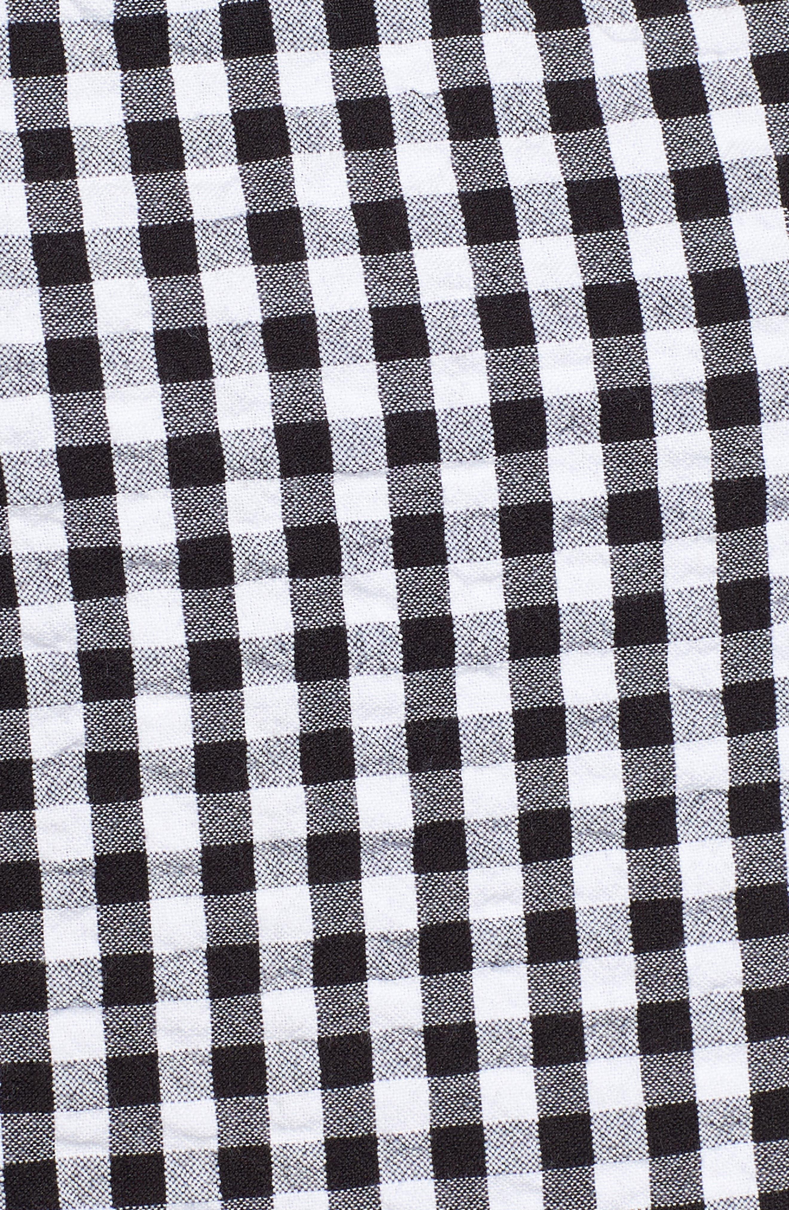 Tiered Ruffle Tassel Tie Tank,                             Alternate thumbnail 5, color,                             001