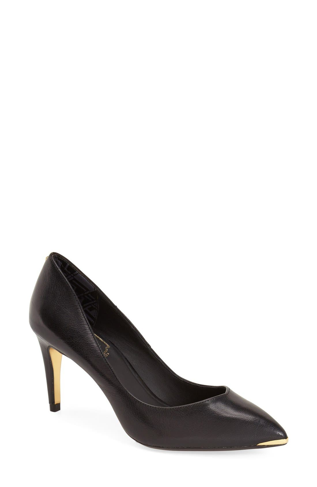 'Monirra' Pointy Toe Pump,                             Main thumbnail 1, color,                             001