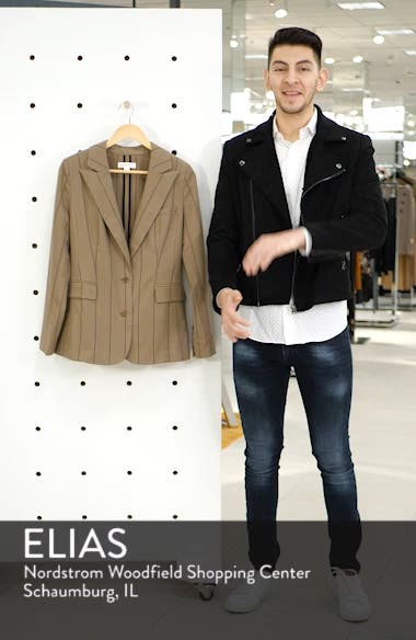 Stripe Menswear Blazer, sales video thumbnail