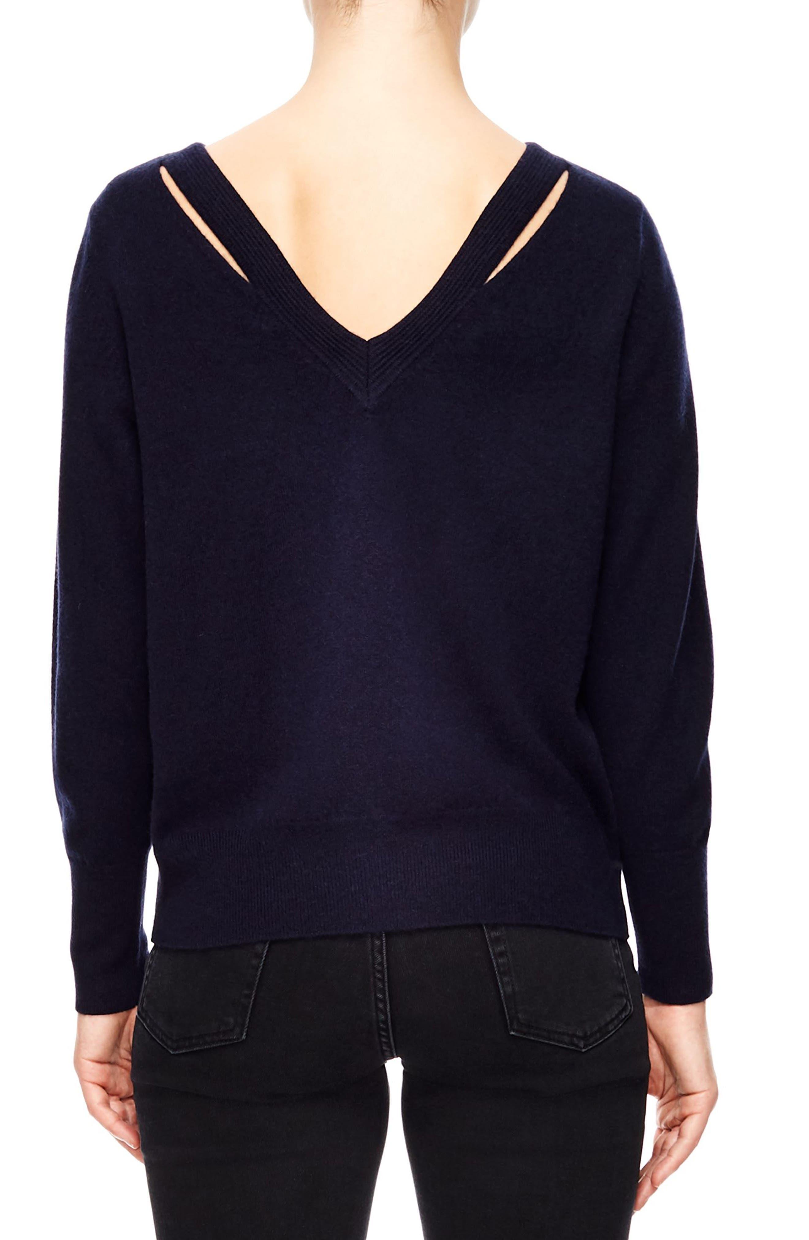 V-Back Sweater,                             Alternate thumbnail 2, color,                             DEEP NAVY