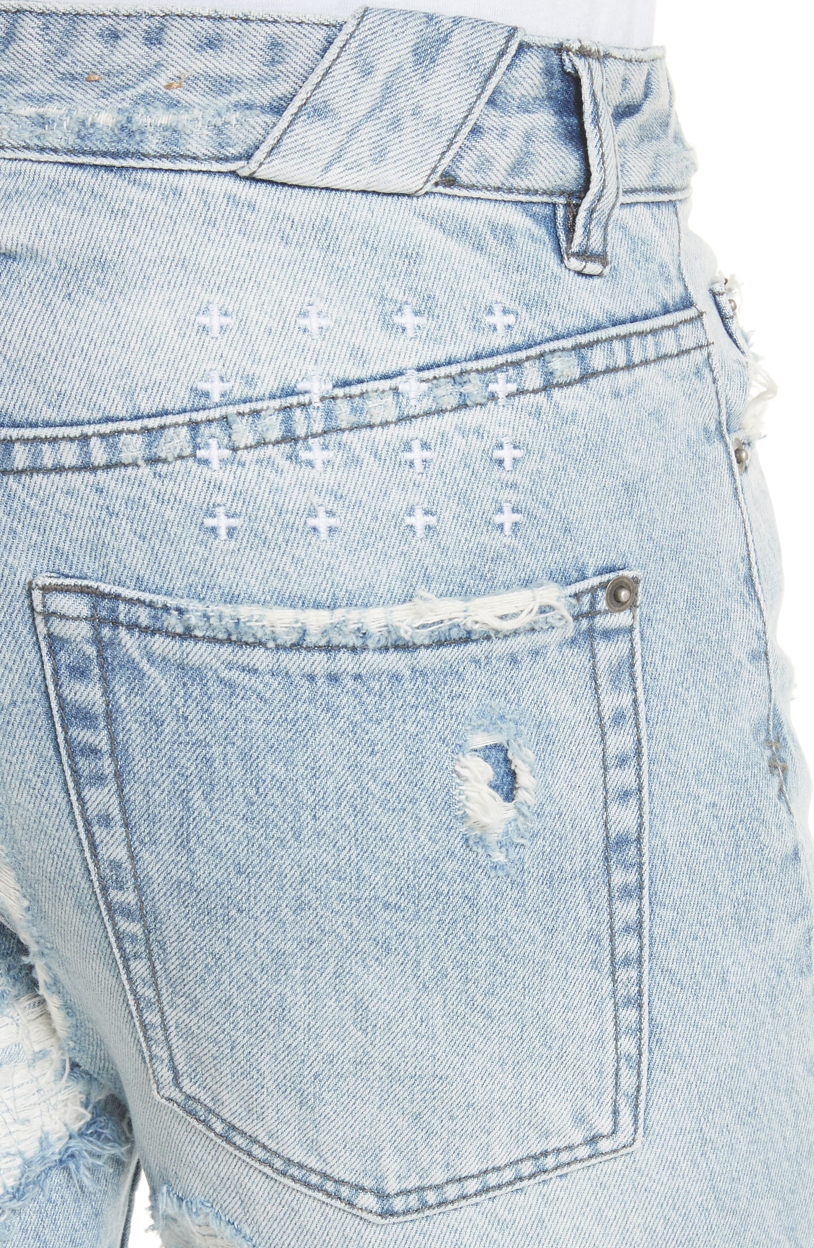 Chitch Tropo Trash Jeans,                             Alternate thumbnail 4, color,                             DENIM