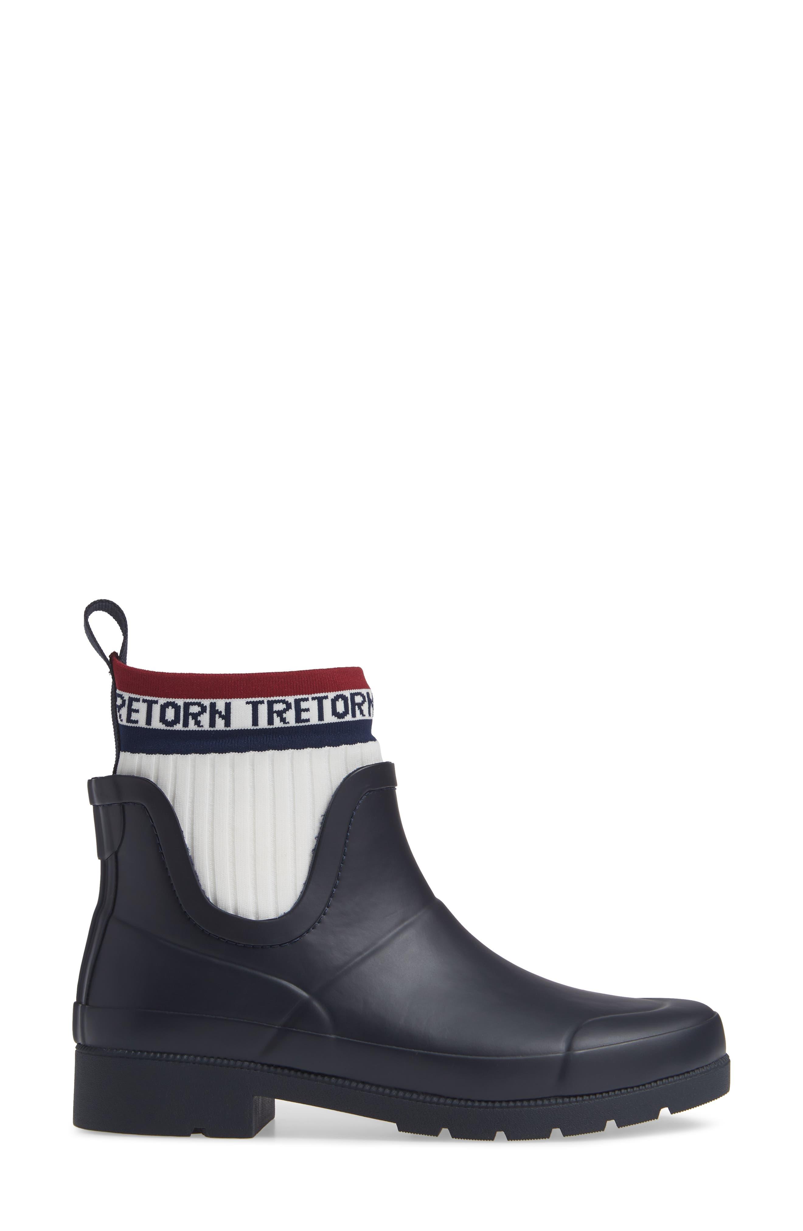 Lia Sock Rain Boot,                             Alternate thumbnail 3, color,                             400