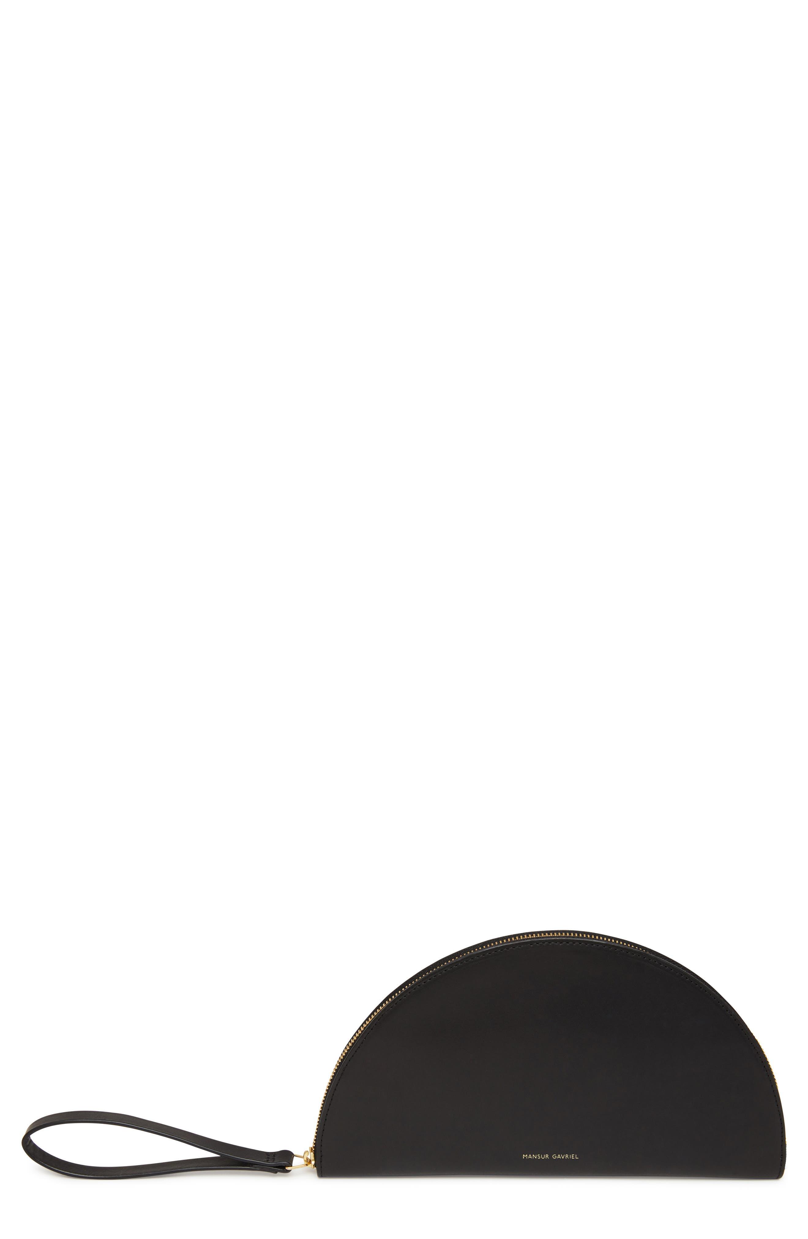 Moon Leather Wallet,                             Main thumbnail 1, color,                             BLACK/ FLAMMA