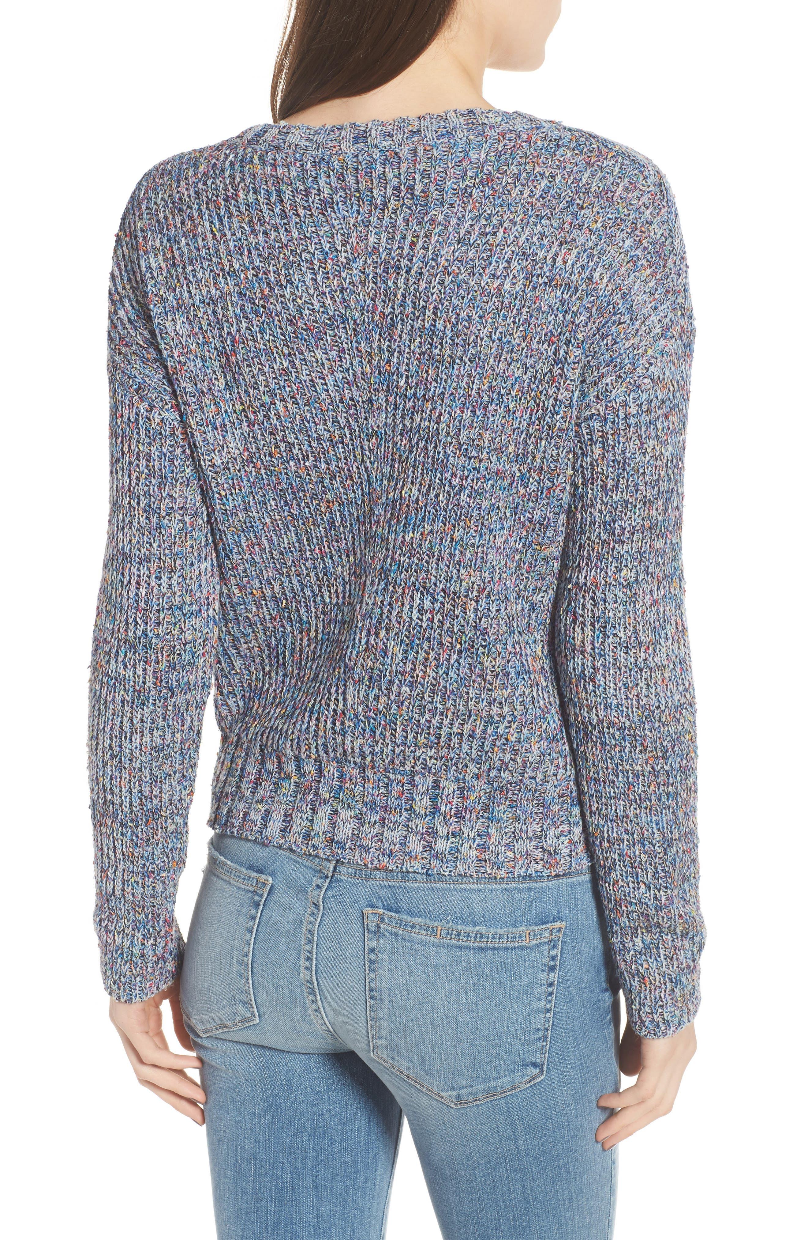 Elsa Sweater,                             Alternate thumbnail 2, color,                             SPECKLED BLUE