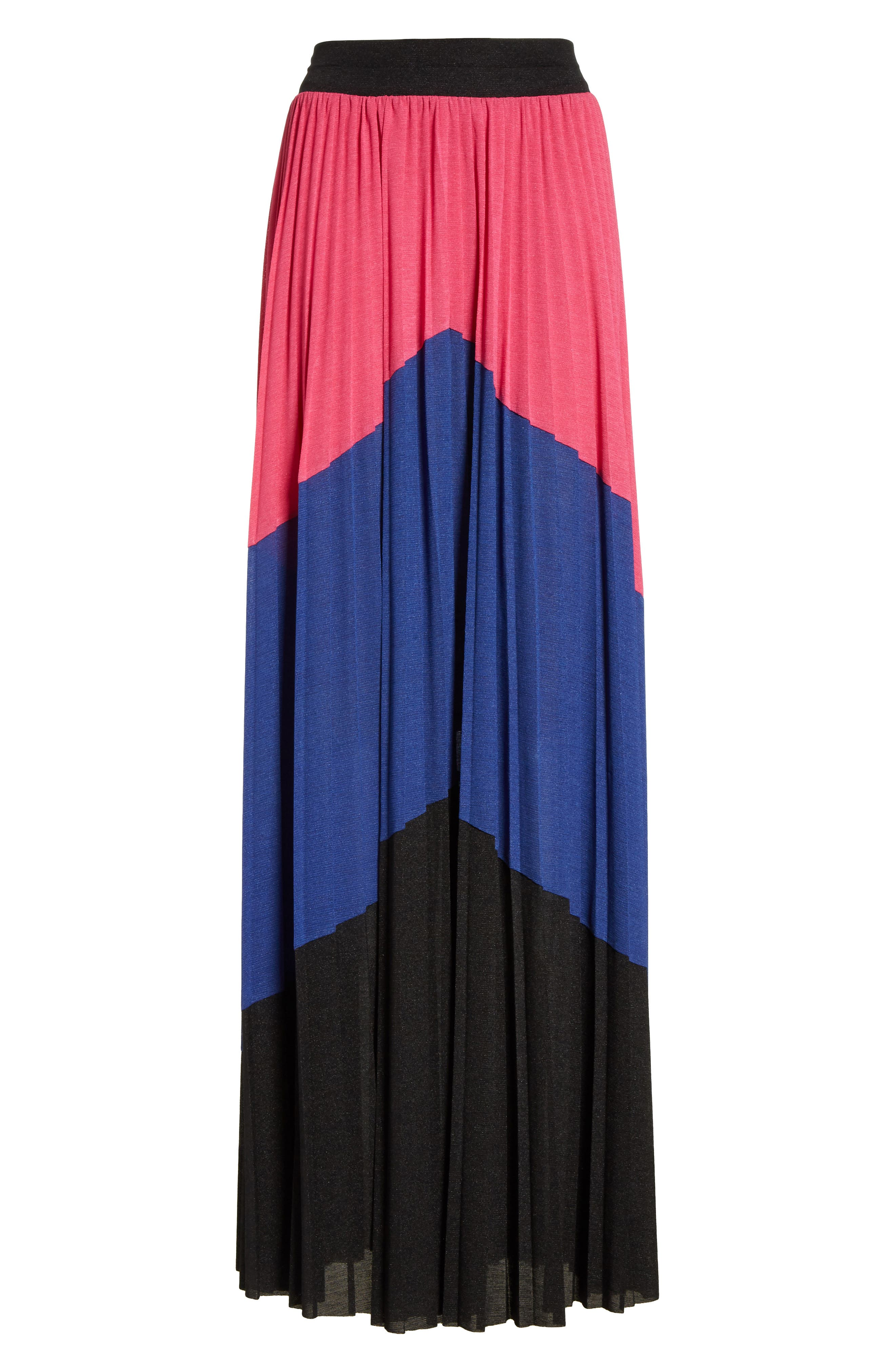 Colorblock Maxi Skirt,                             Alternate thumbnail 6, color,