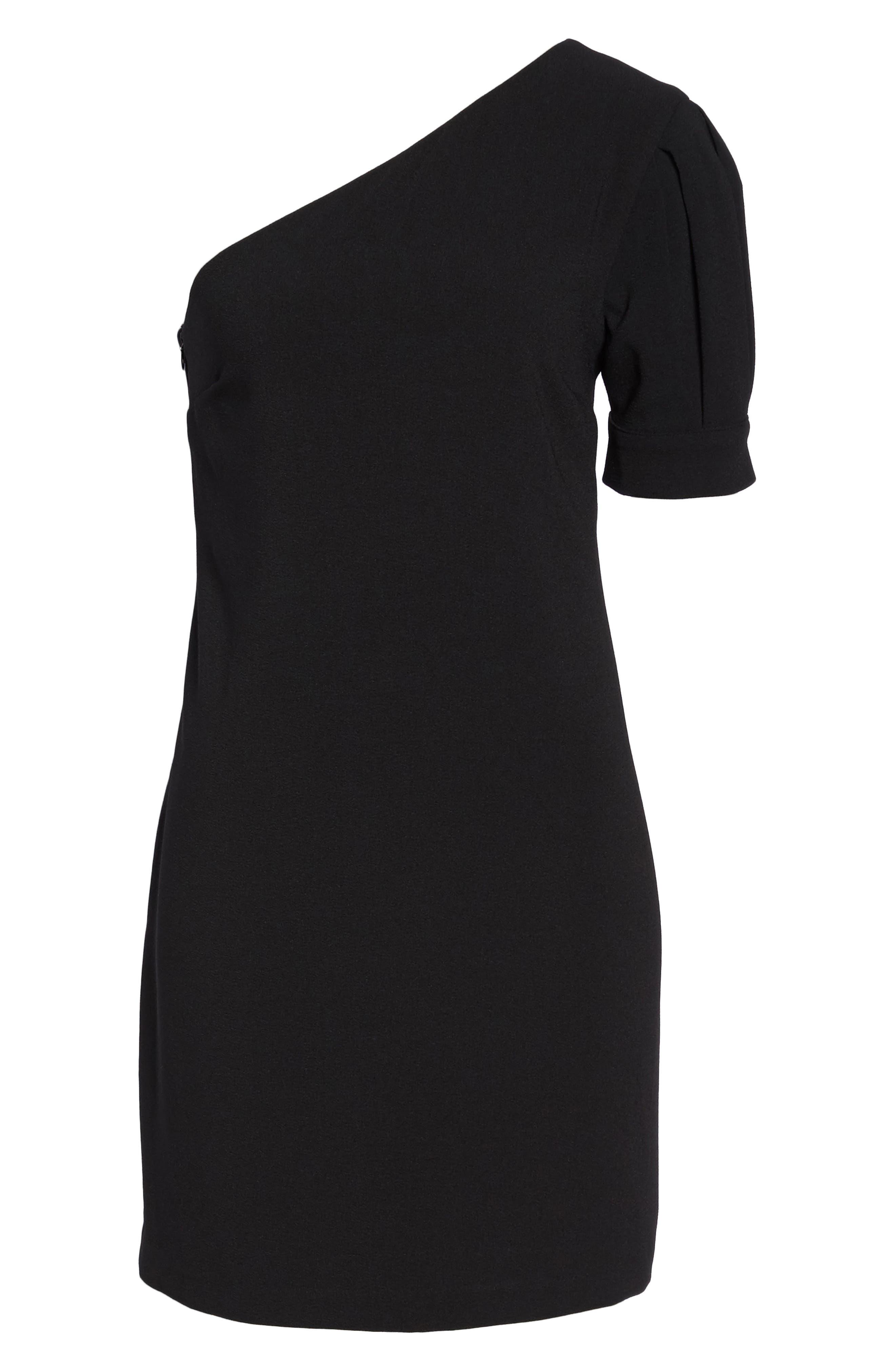 One-Shoulder Shift Dress,                             Alternate thumbnail 6, color,
