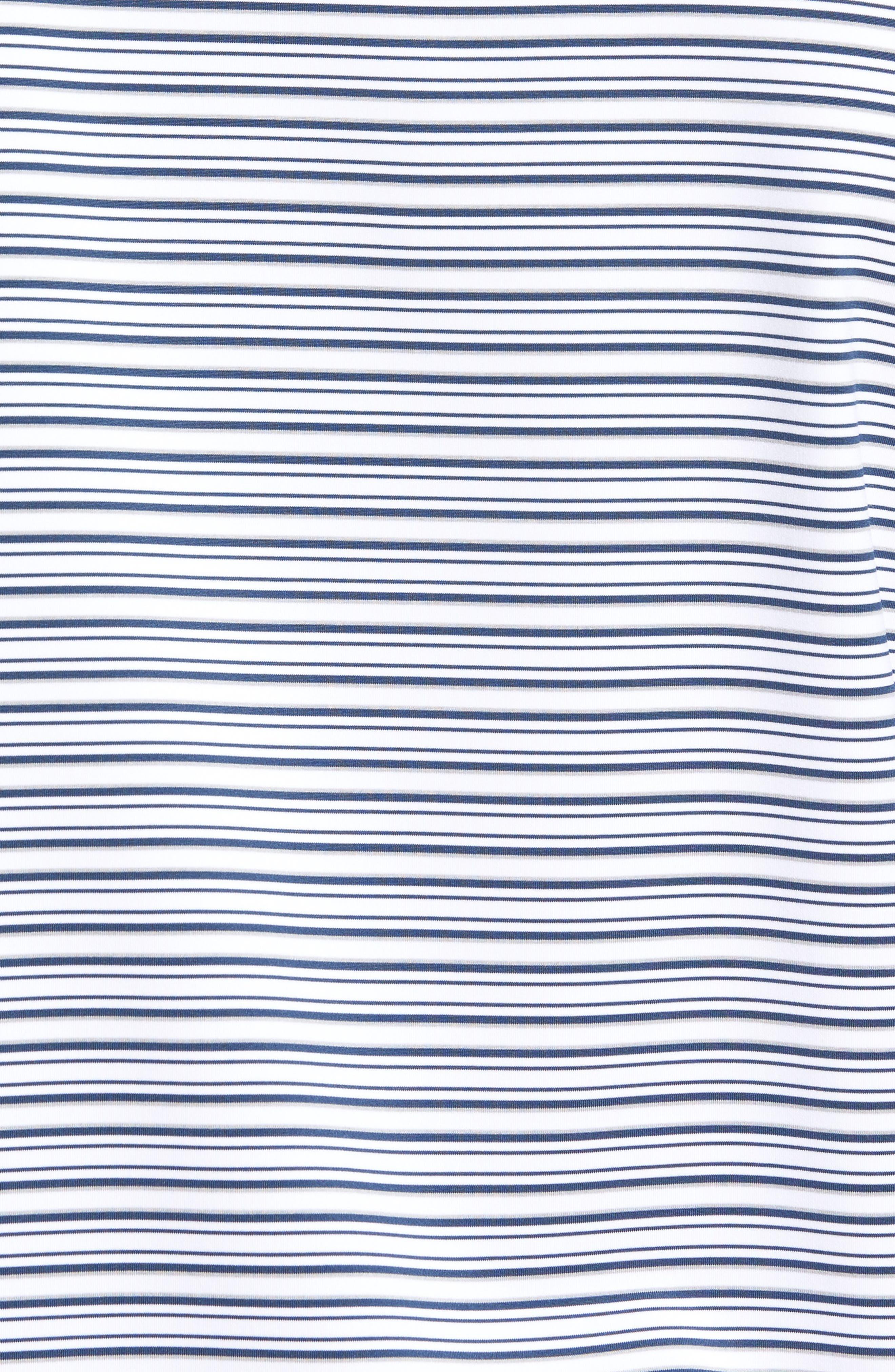 Barron Sean Stripe Jersey Polo,                             Alternate thumbnail 5, color,                             100