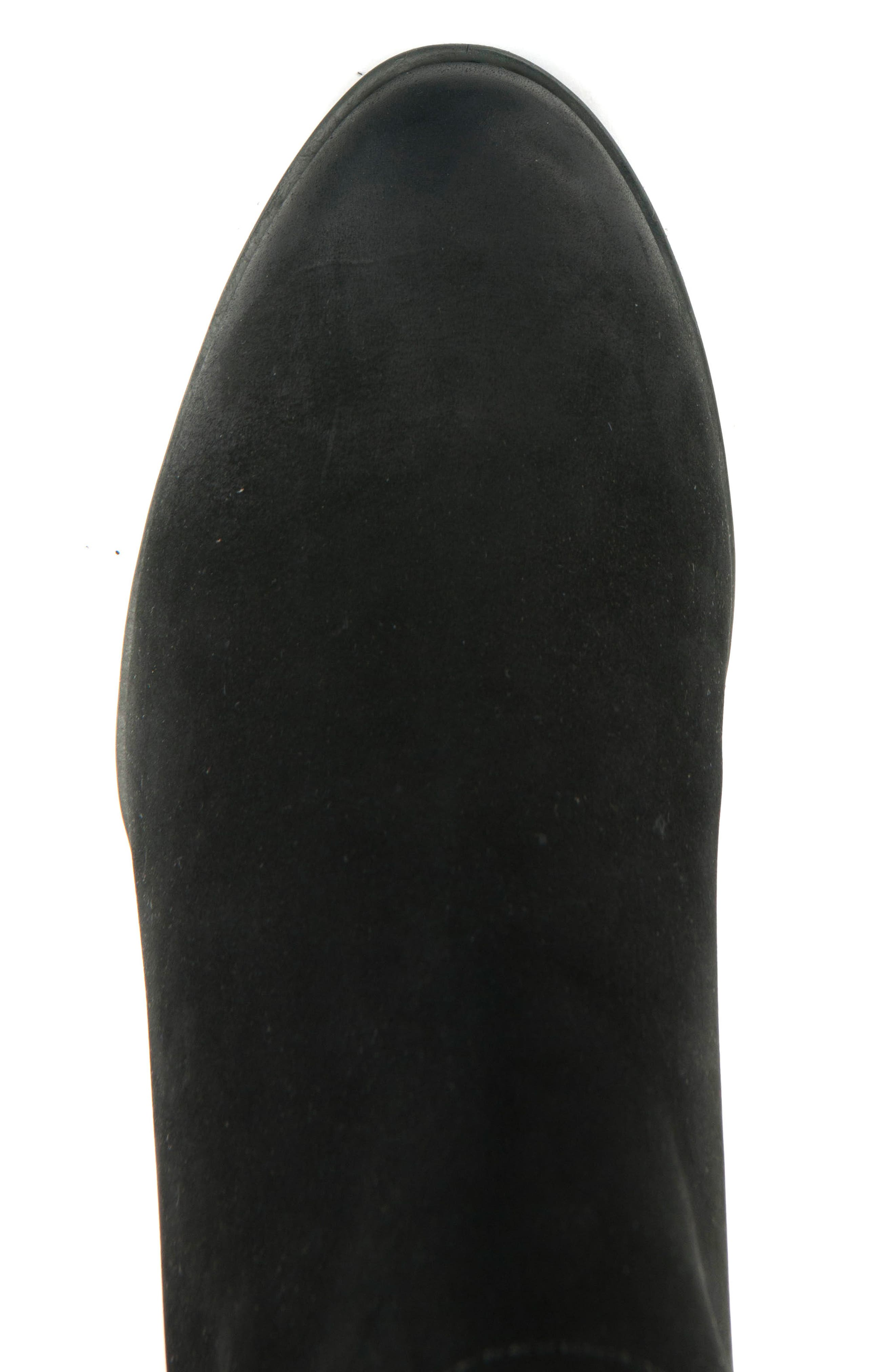Victoria Waterproof Cutout Bootie,                             Alternate thumbnail 4, color,                             BLACK NUBUCK