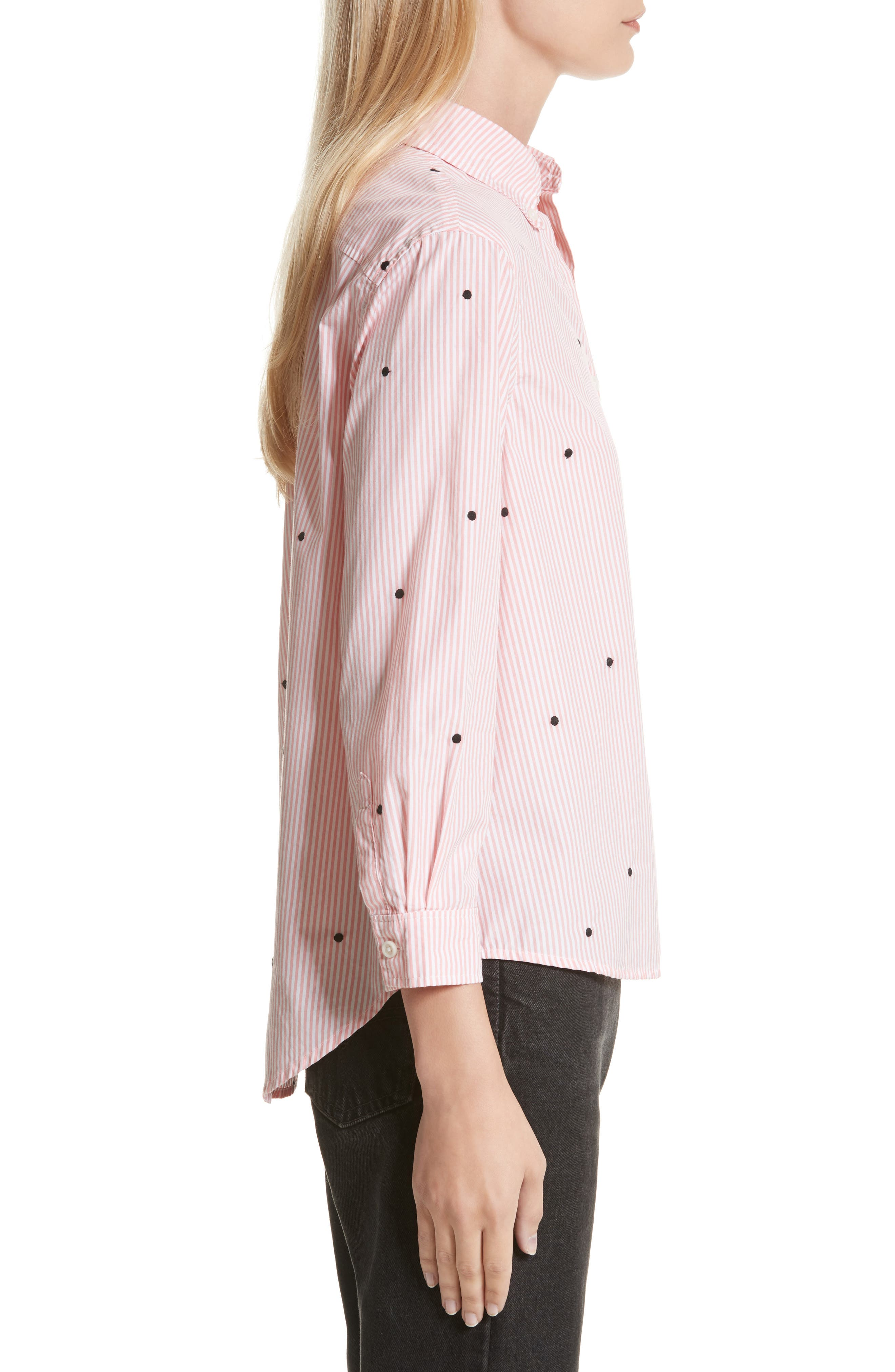 The Swing Oxford Embroidered Shirt,                             Alternate thumbnail 3, color,                             650