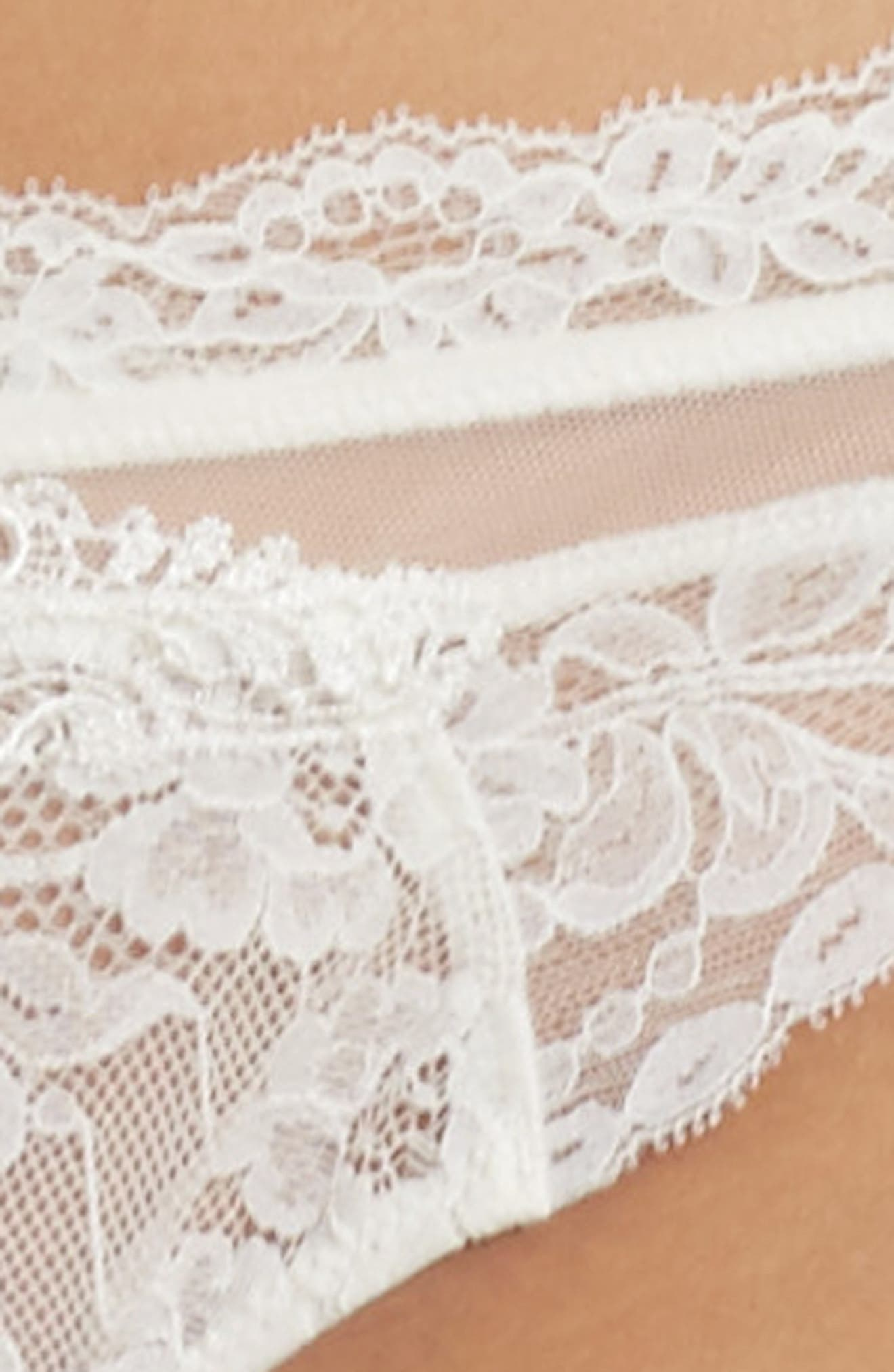 Exception Charme Thong,                             Alternate thumbnail 4, color,                             NACRE