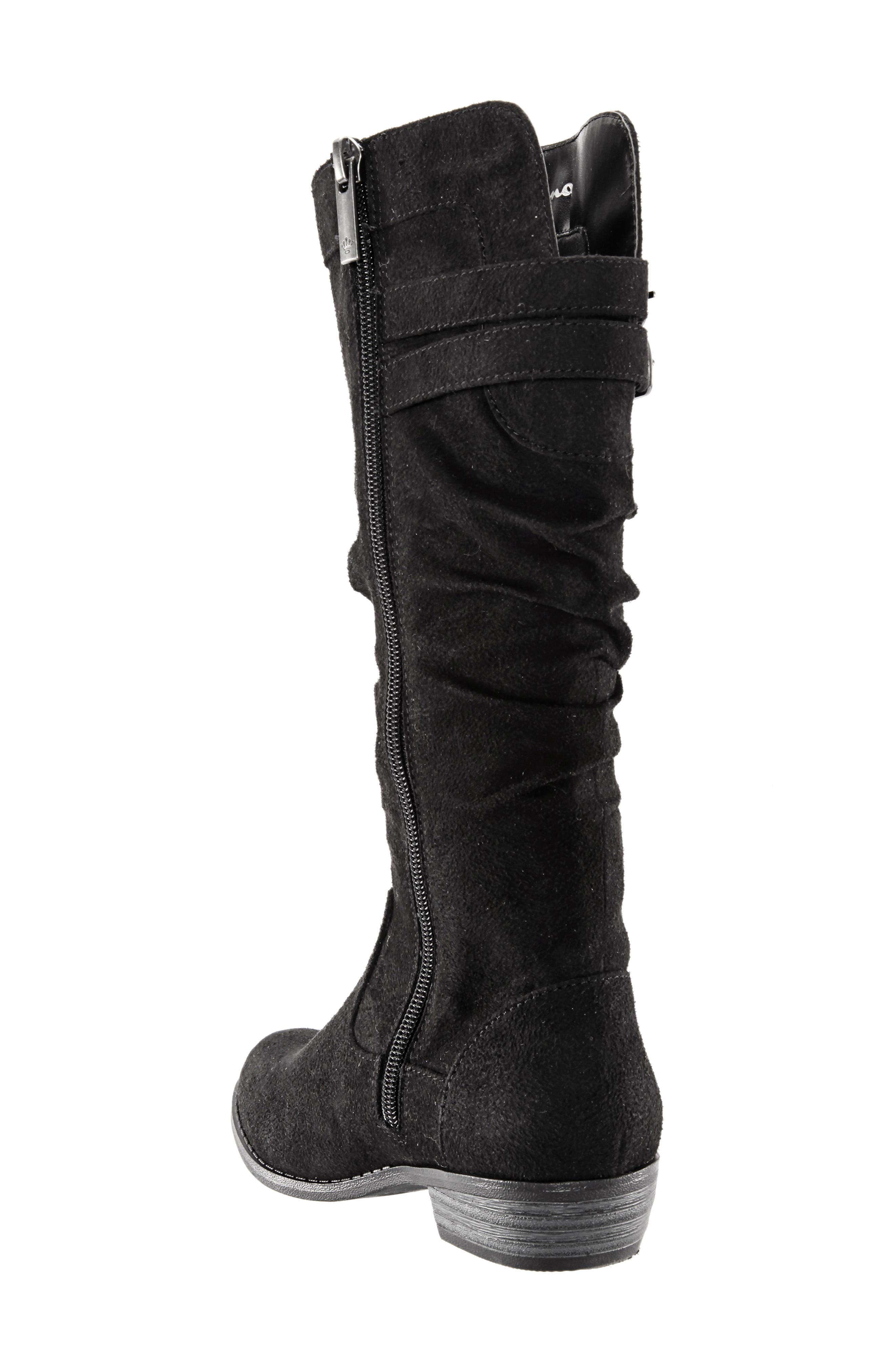 Gilda Tall Slouchy Boot,                             Alternate thumbnail 2, color,                             BLACK BURNISHED MICRO SUEDE