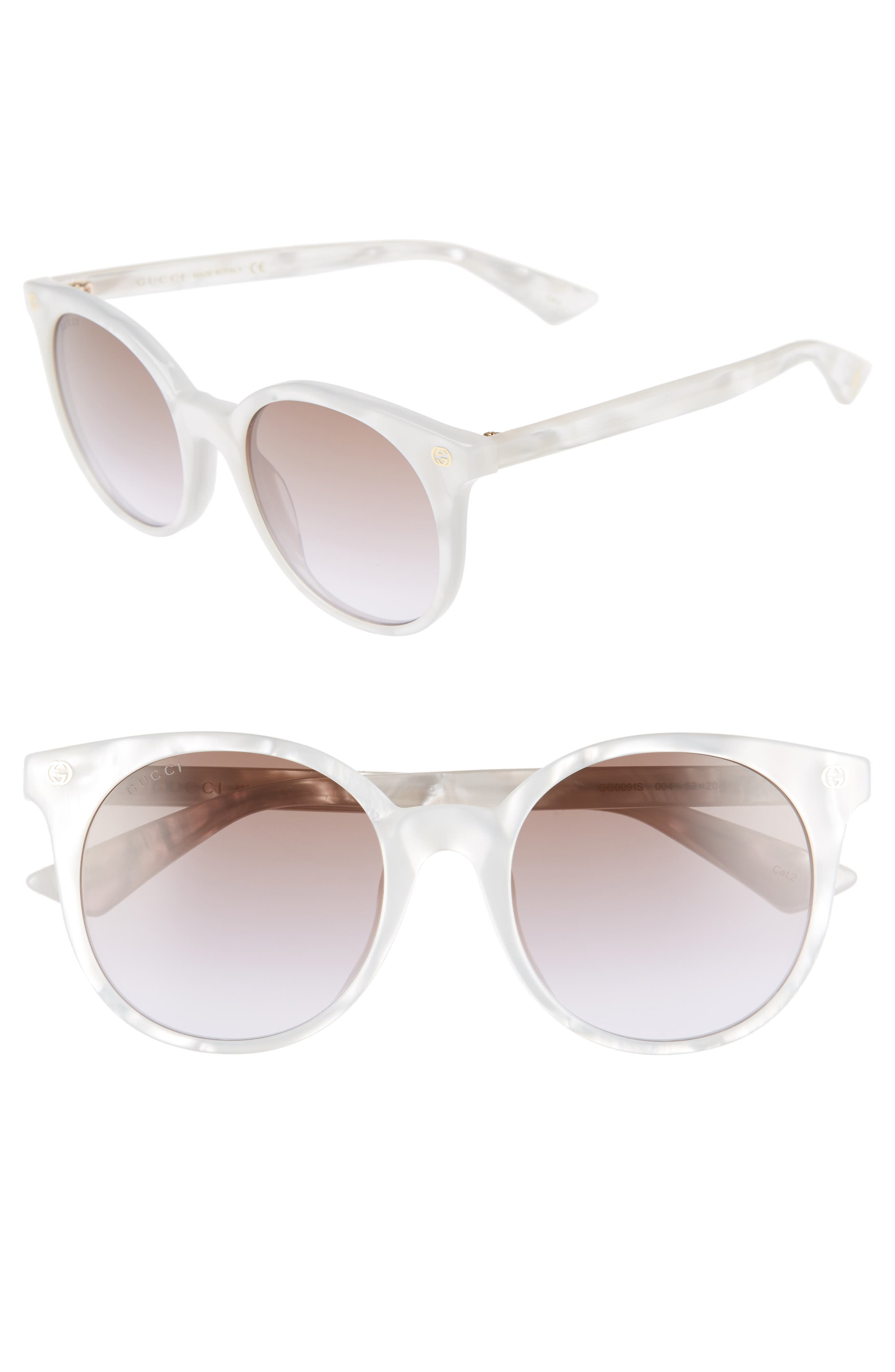 52mm Round Sunglasses,                             Main thumbnail 2, color,