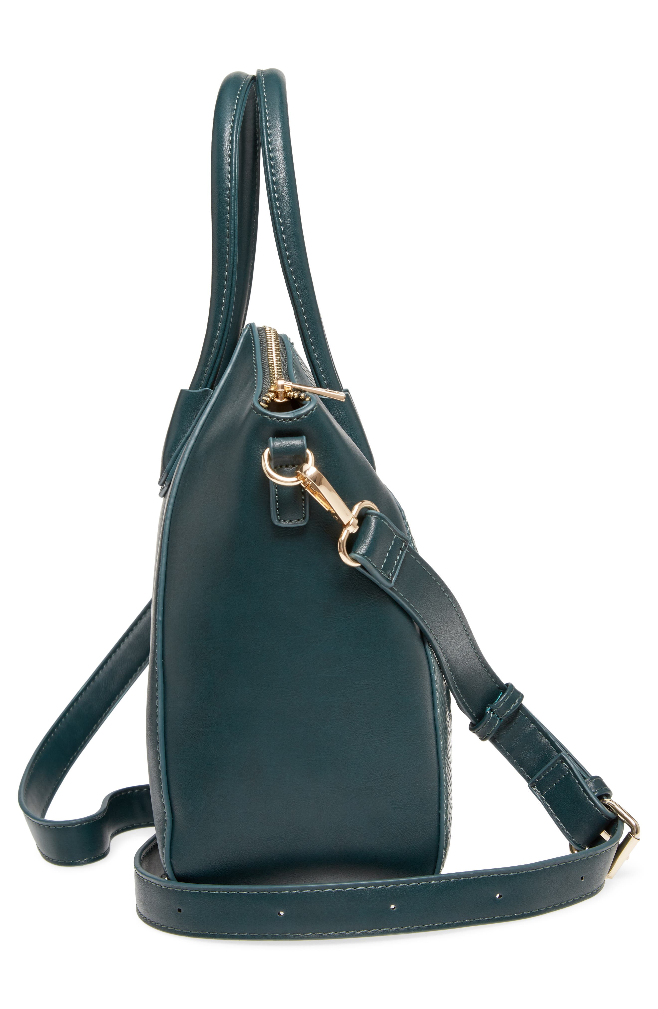 Chase Faux Leather Satchel,                             Alternate thumbnail 14, color,