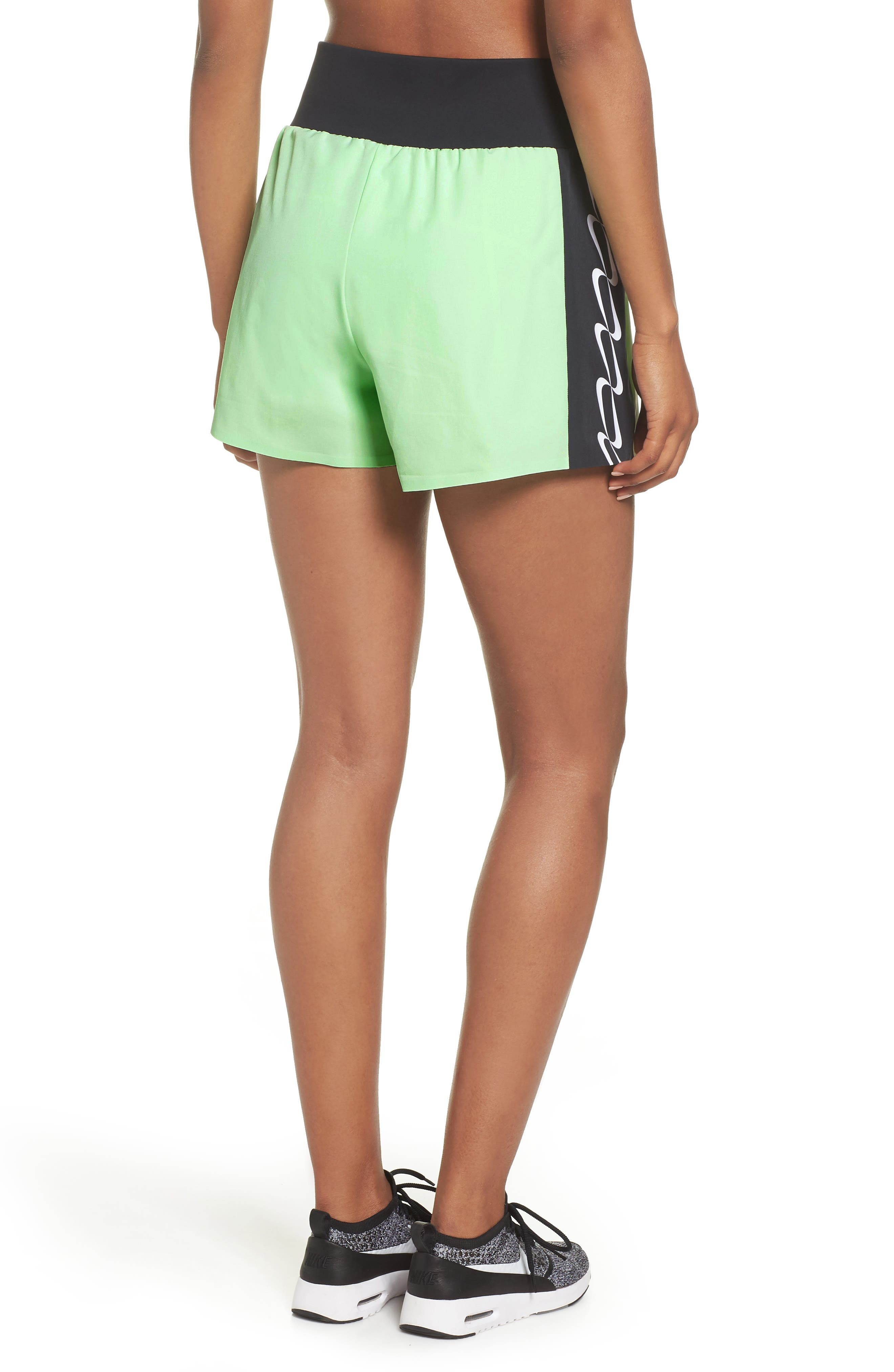 NRG Women's Dri-FIT Running Shorts,                             Alternate thumbnail 2, color,                             VAPOR GREEN/ BLACK/ WHITE