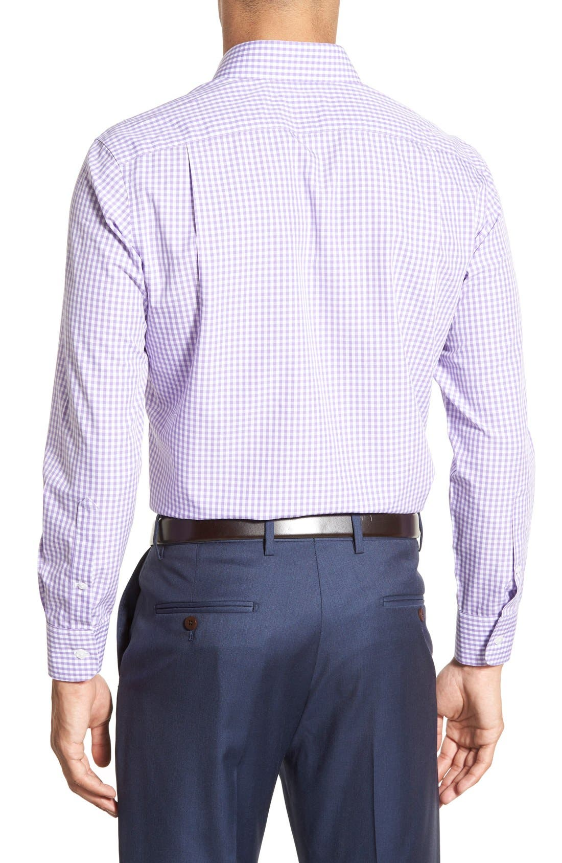 Slim Fit Wrinkle Free Check Dress Shirt,                             Alternate thumbnail 6, color,                             LILAC