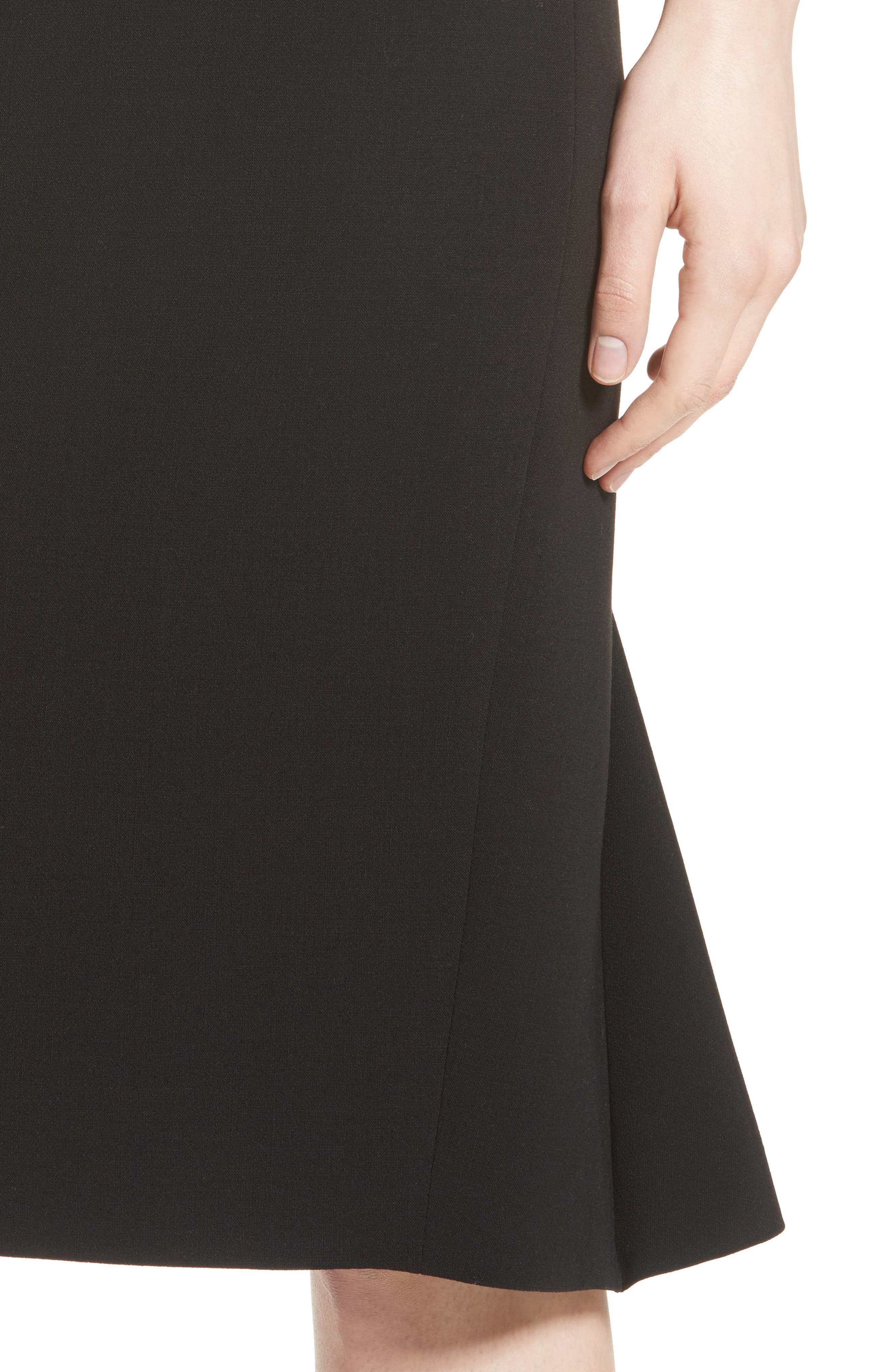 Bugia Stretch Wool Skirt,                             Alternate thumbnail 4, color,                             001