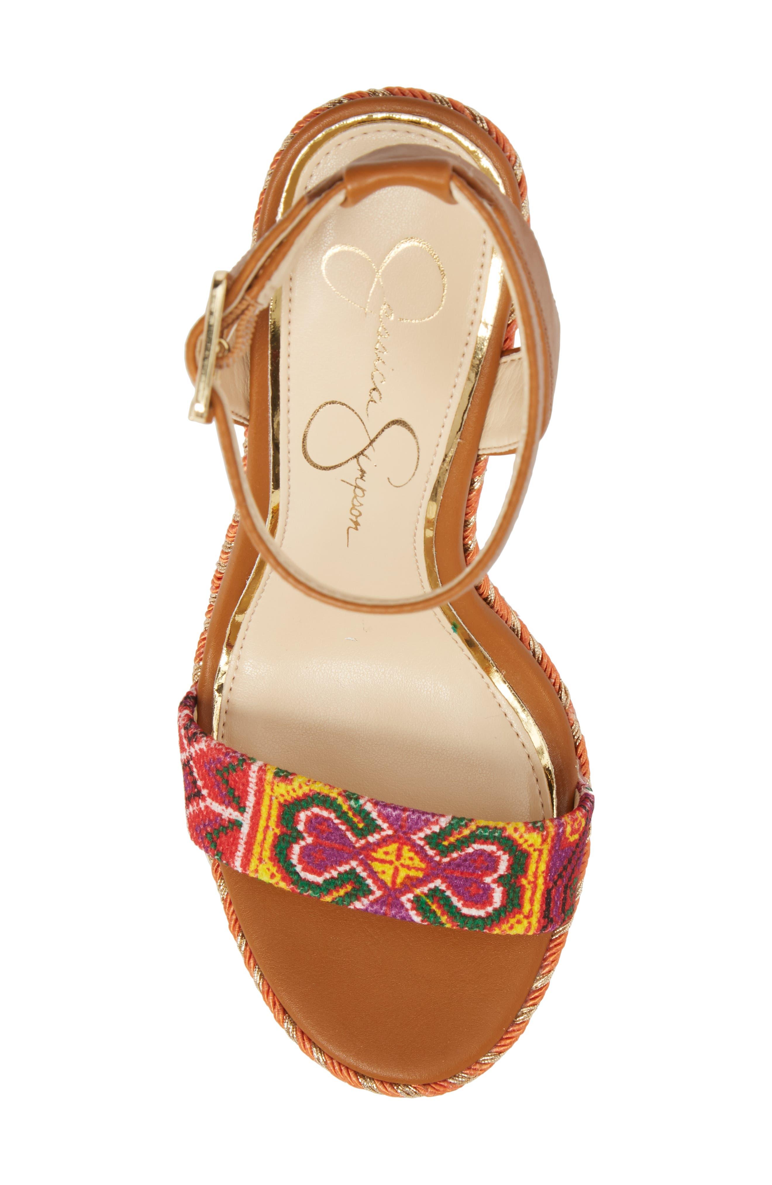 Alinda Embellished Wedge Sandal,                             Alternate thumbnail 10, color,