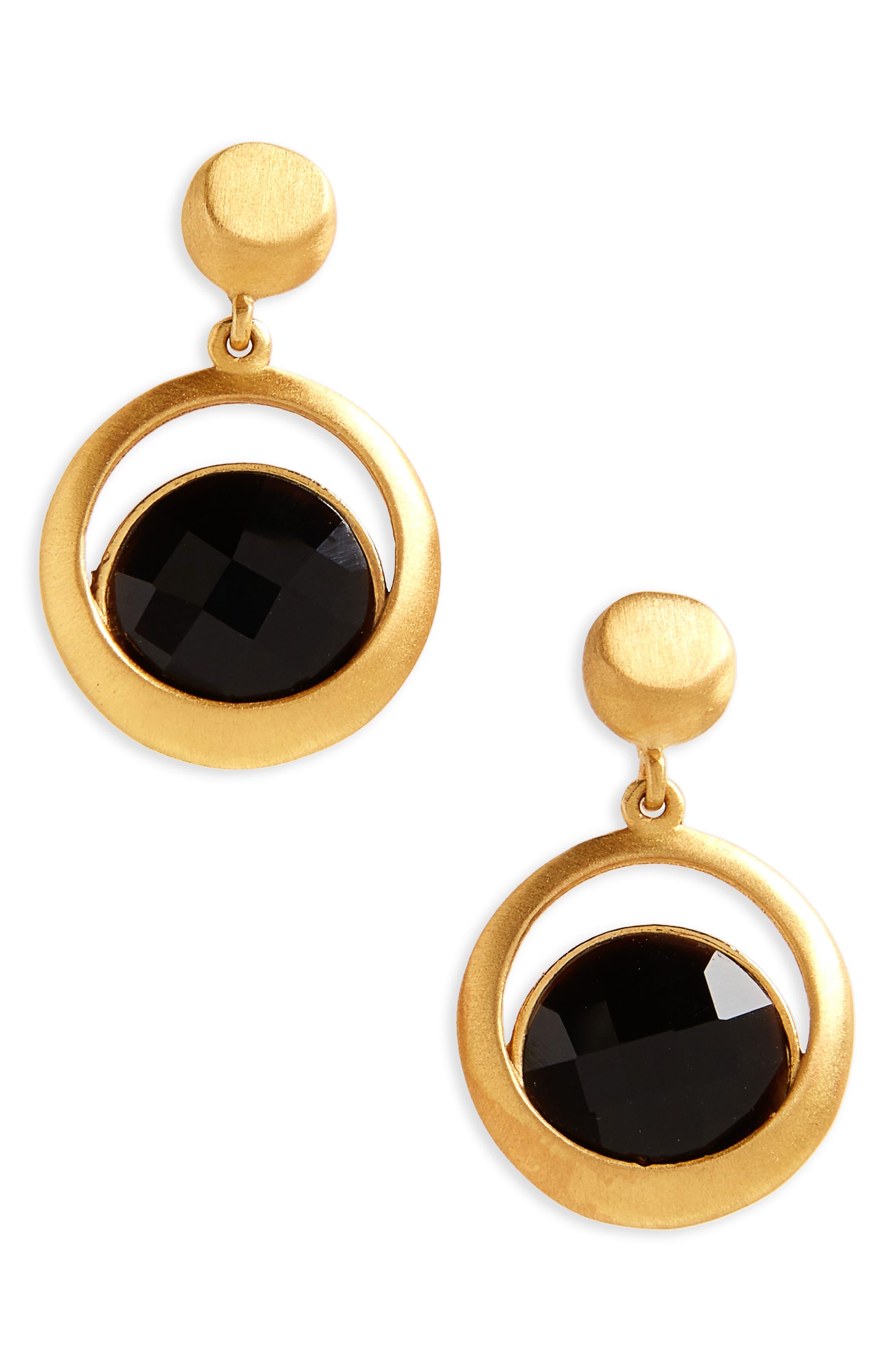Lapa Semiprecious Stone Drop Earrings,                             Main thumbnail 1, color,                             001