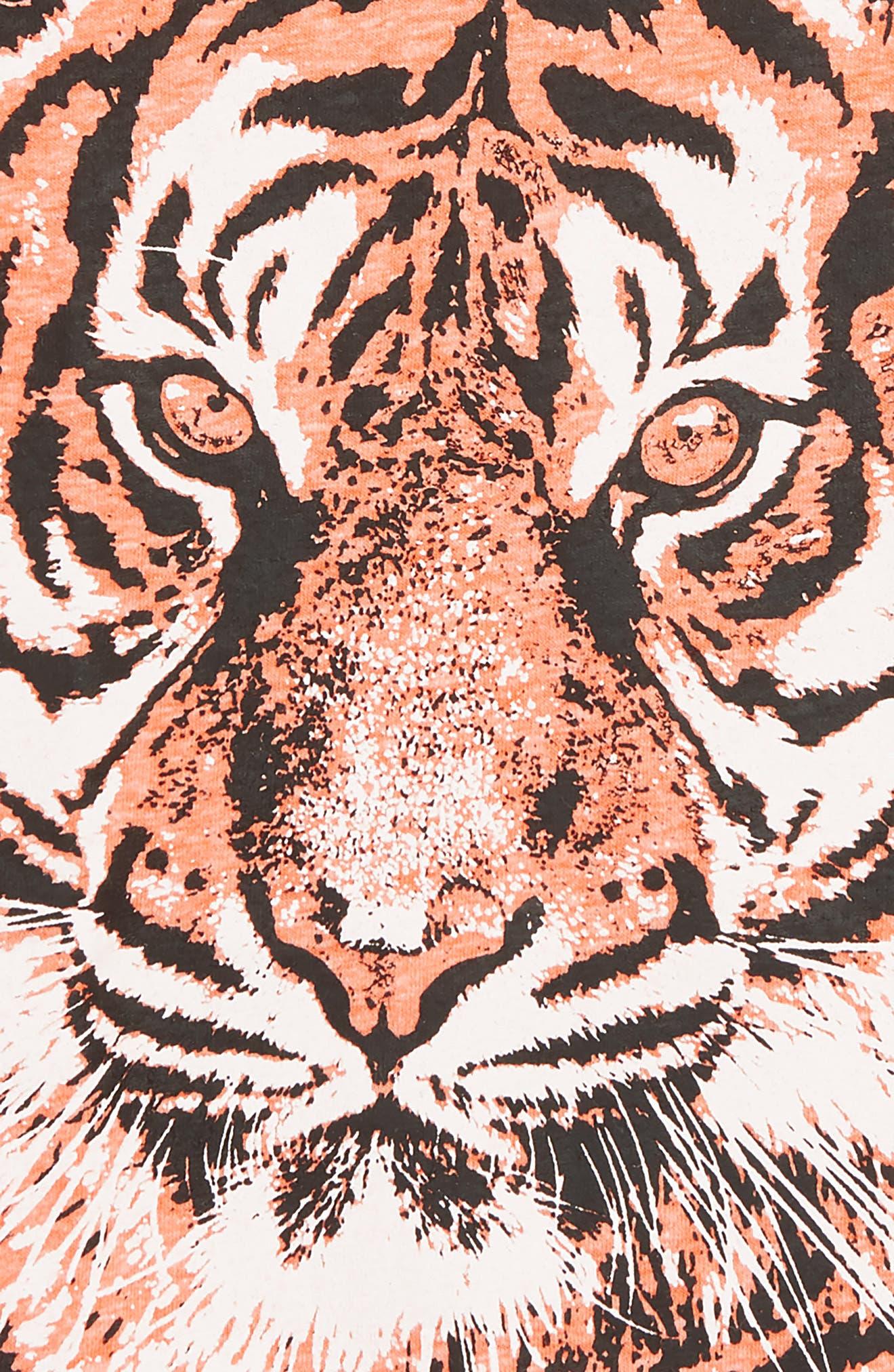 CREWCUTS BY J.CREW,                             Tiger T-Shirt,                             Alternate thumbnail 2, color,                             SWEET MELON