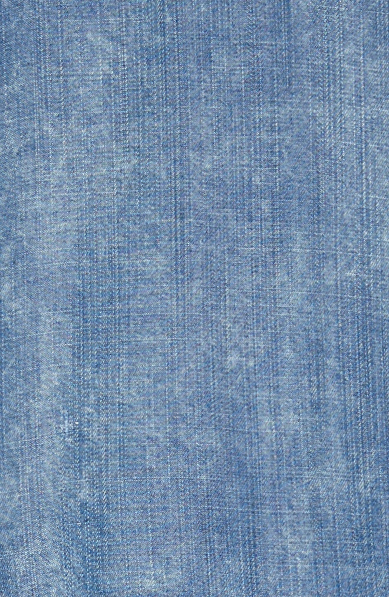 Tie Front Chambray Dress,                             Alternate thumbnail 3, color,                             400