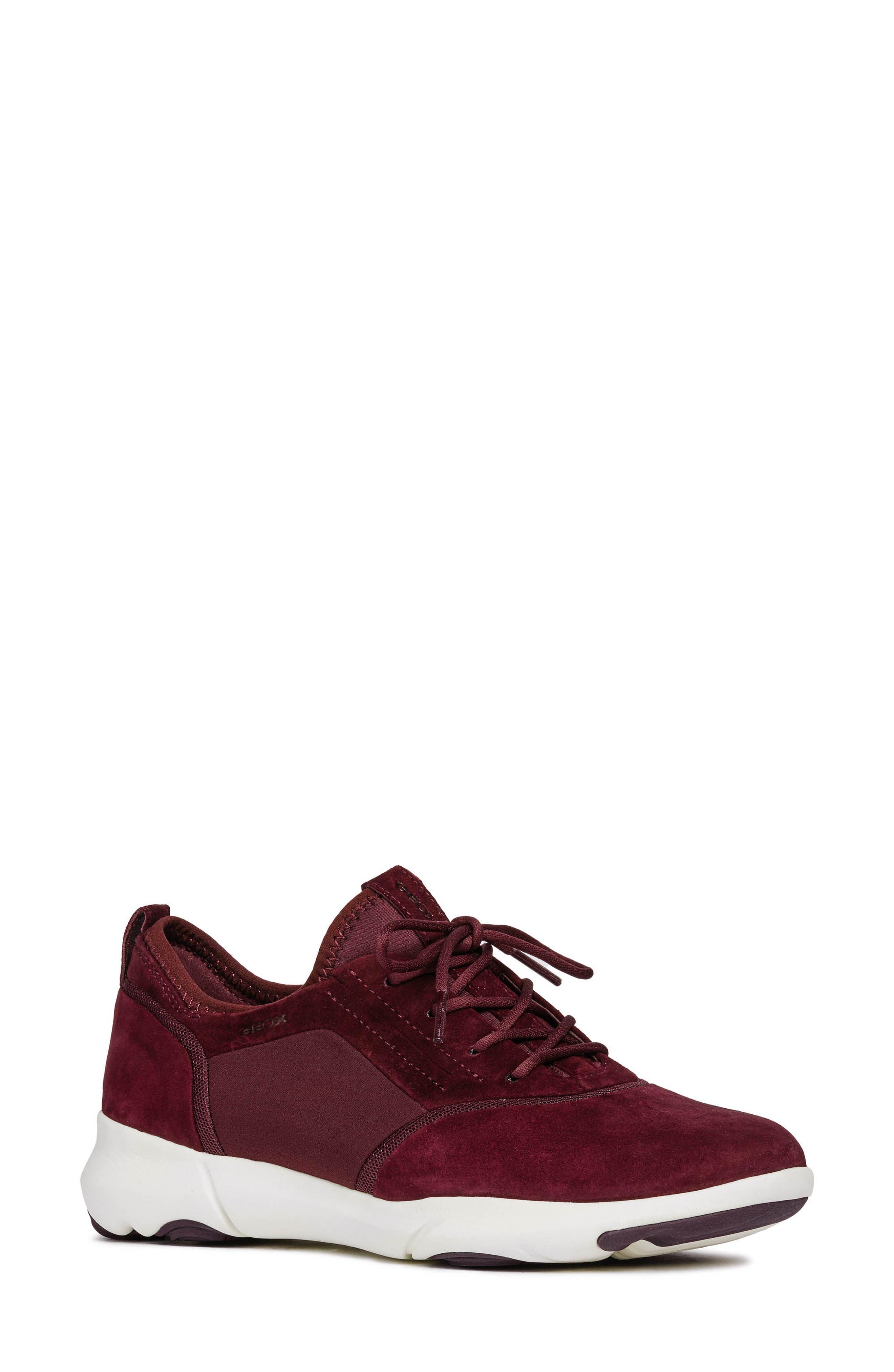 Nebula Sneaker,                         Main,                         color, DARK BURGUNDY LEATHER