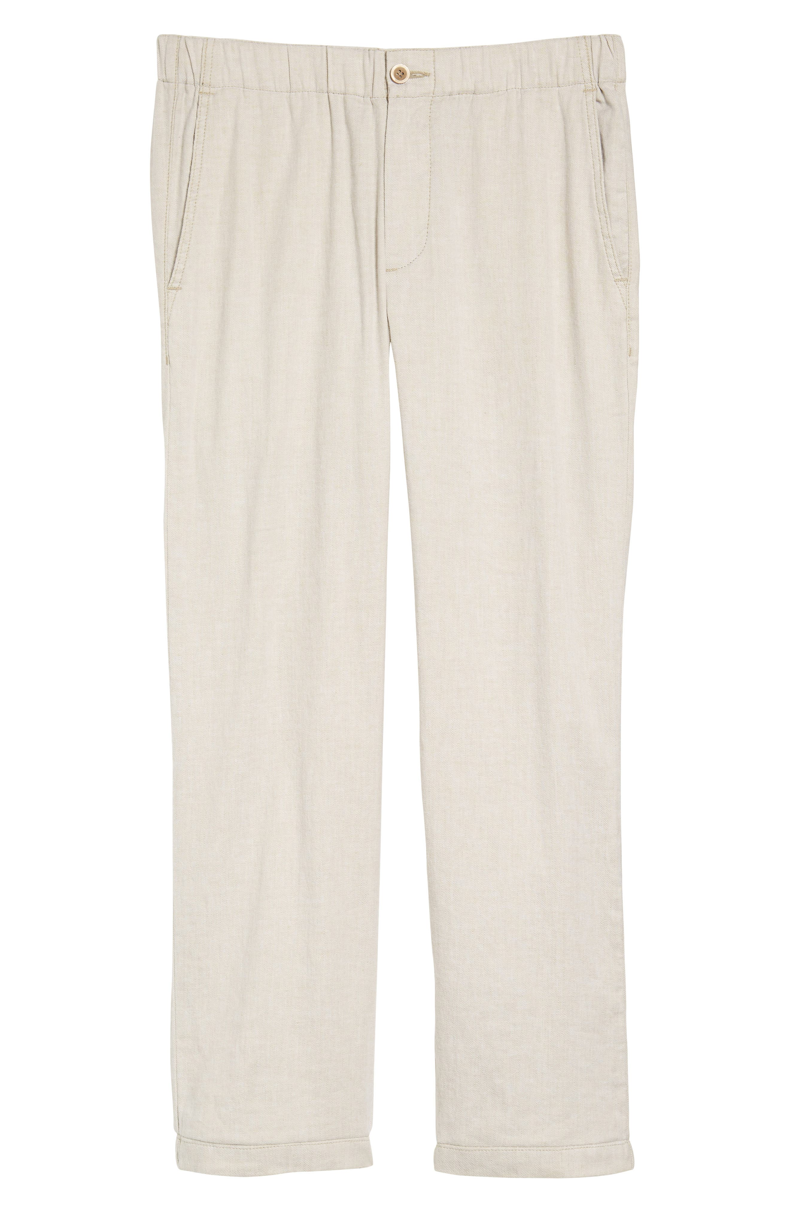 TOMMY BAHAMA,                             Beach Linen Blend Pants,                             Alternate thumbnail 6, color,                             STONE KHAKI
