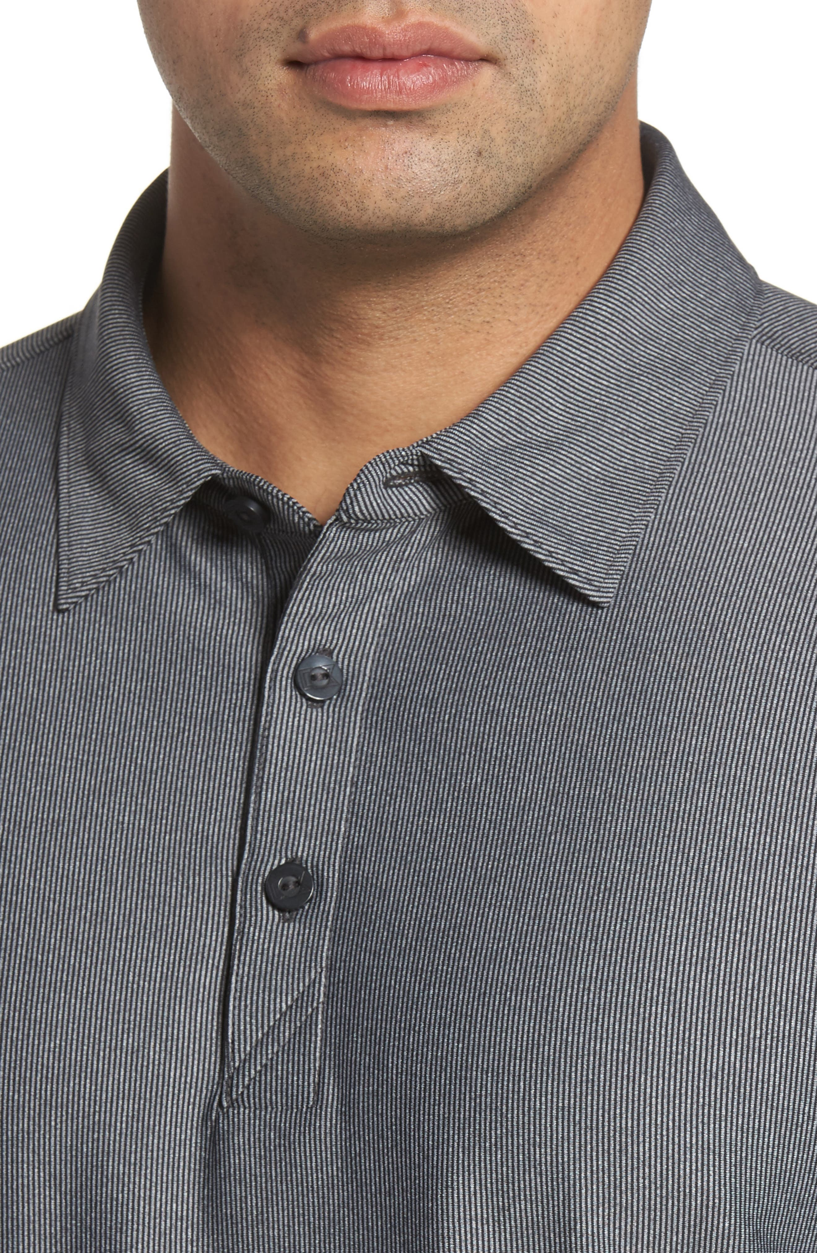 Cunningham Stripe Jersey Polo,                             Alternate thumbnail 4, color,                             001