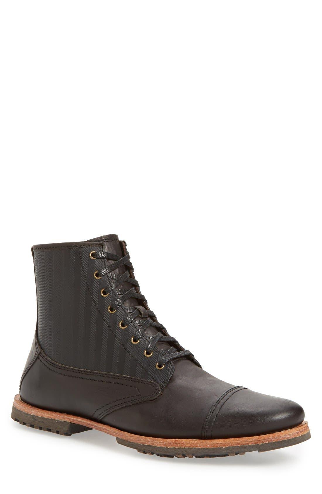 'Bardstown' Cap Toe Boot,                         Main,                         color, 001