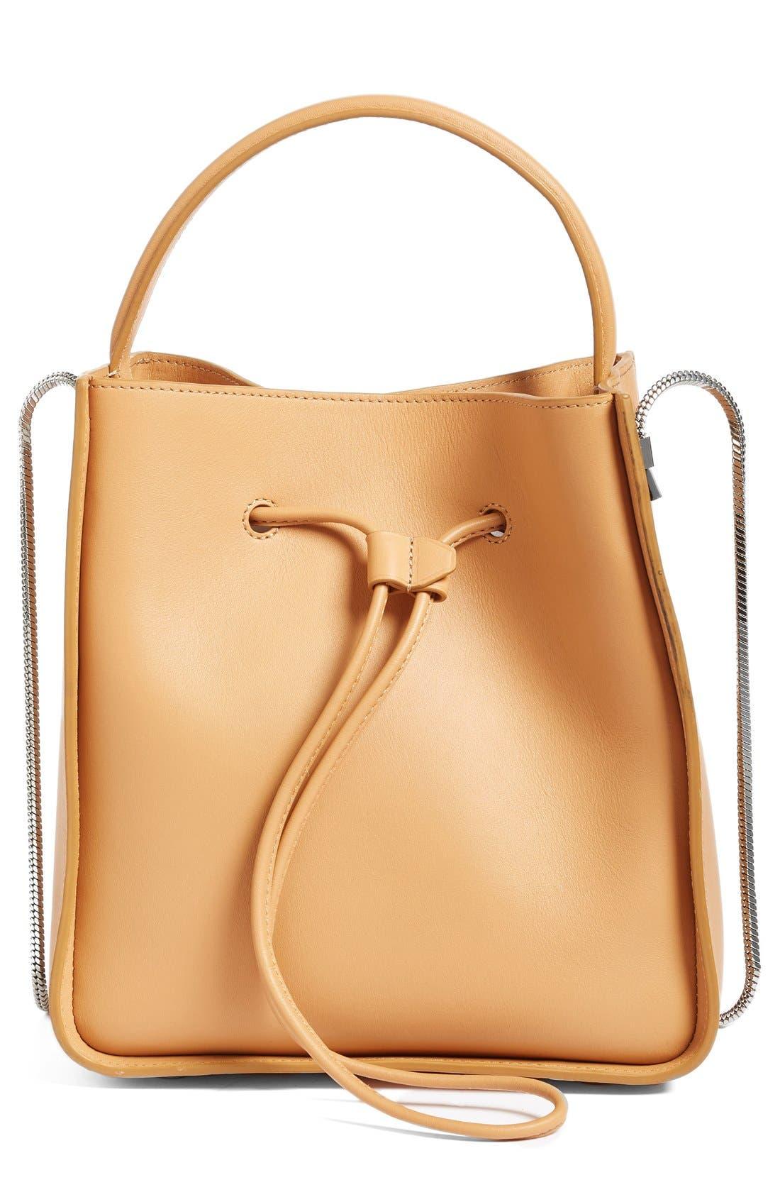Mini Soleil Leather Bucket Bag,                             Main thumbnail 1, color,                             249
