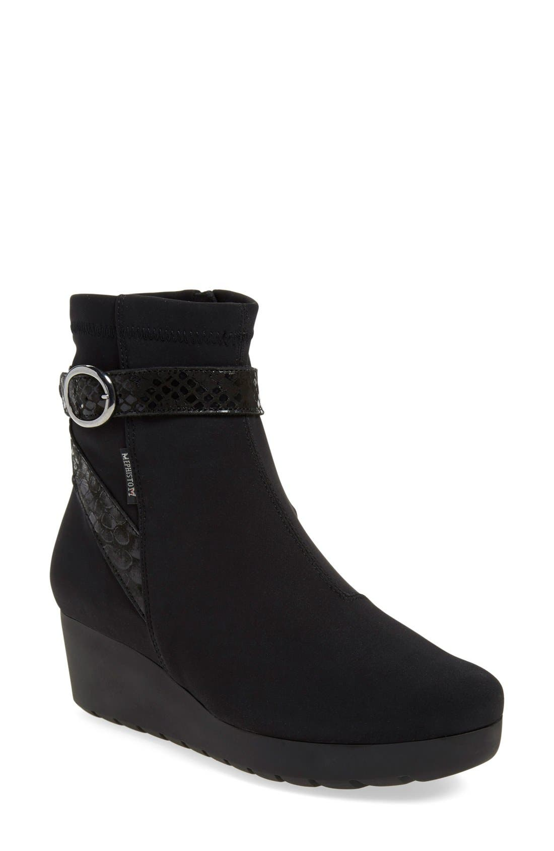 'Tyba' Waterproof Wedge Bootie,                             Main thumbnail 1, color,