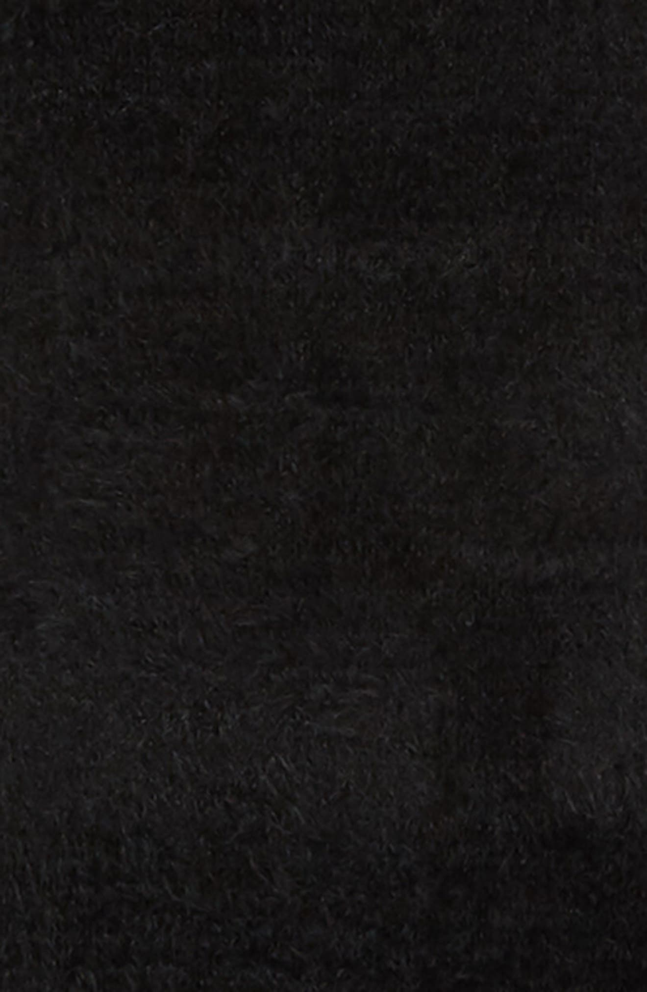 Eyleash Knit Muffler,                             Alternate thumbnail 4, color,                             BLACK