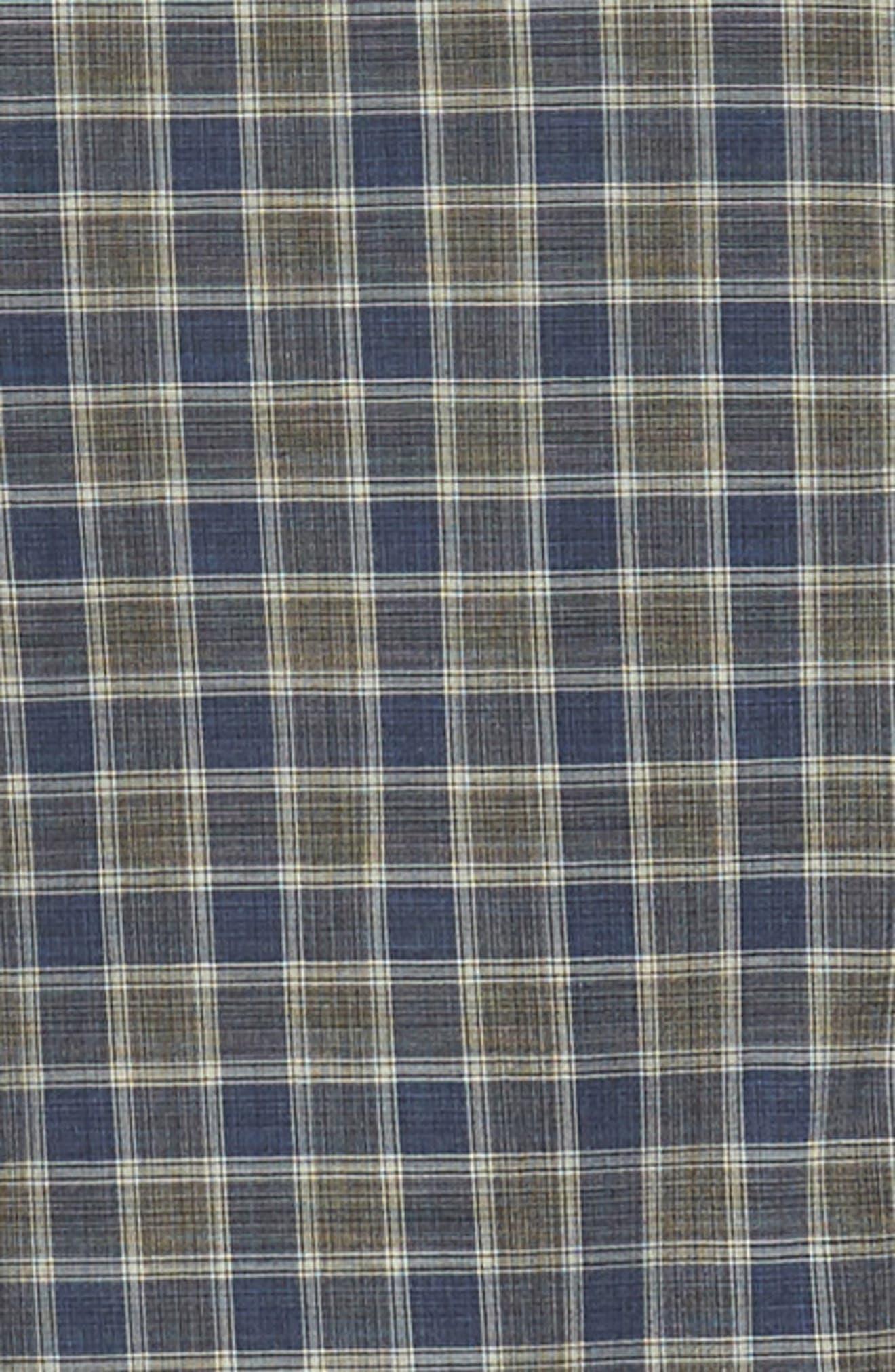 ZACHARY PRELL,                             Giunta Regular Fit Check Sport Shirt,                             Alternate thumbnail 6, color,                             BLUE
